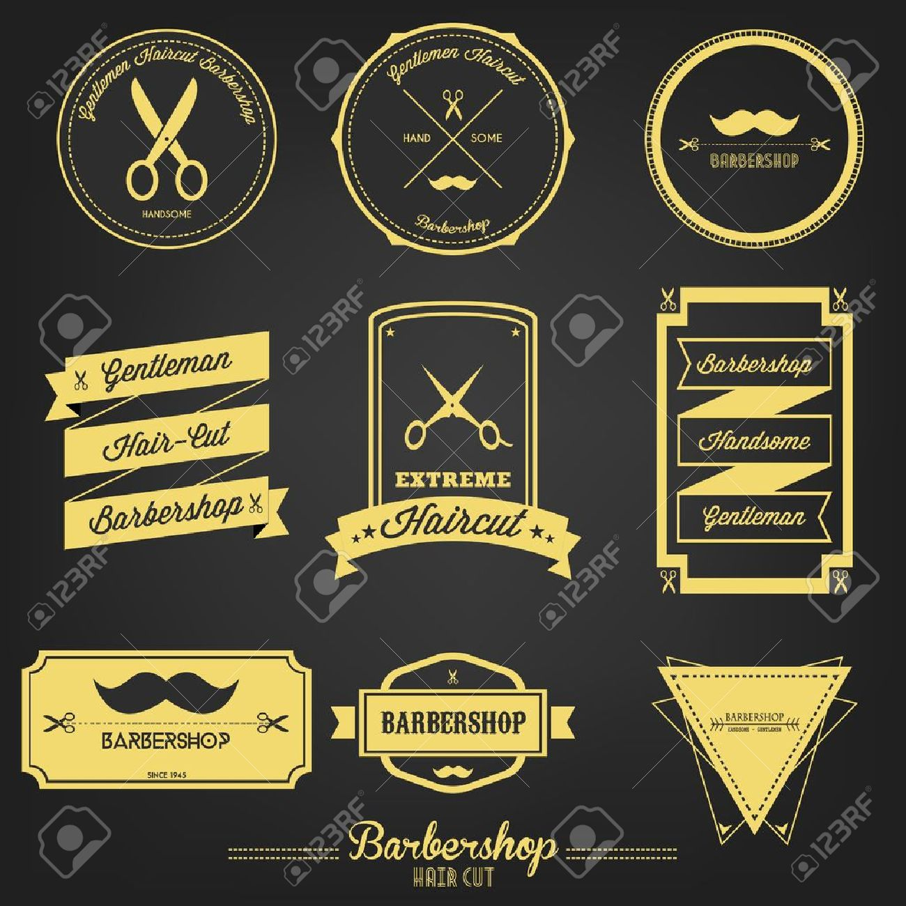 Premium Barbershop Vintage Label Stock Vector - 21962519