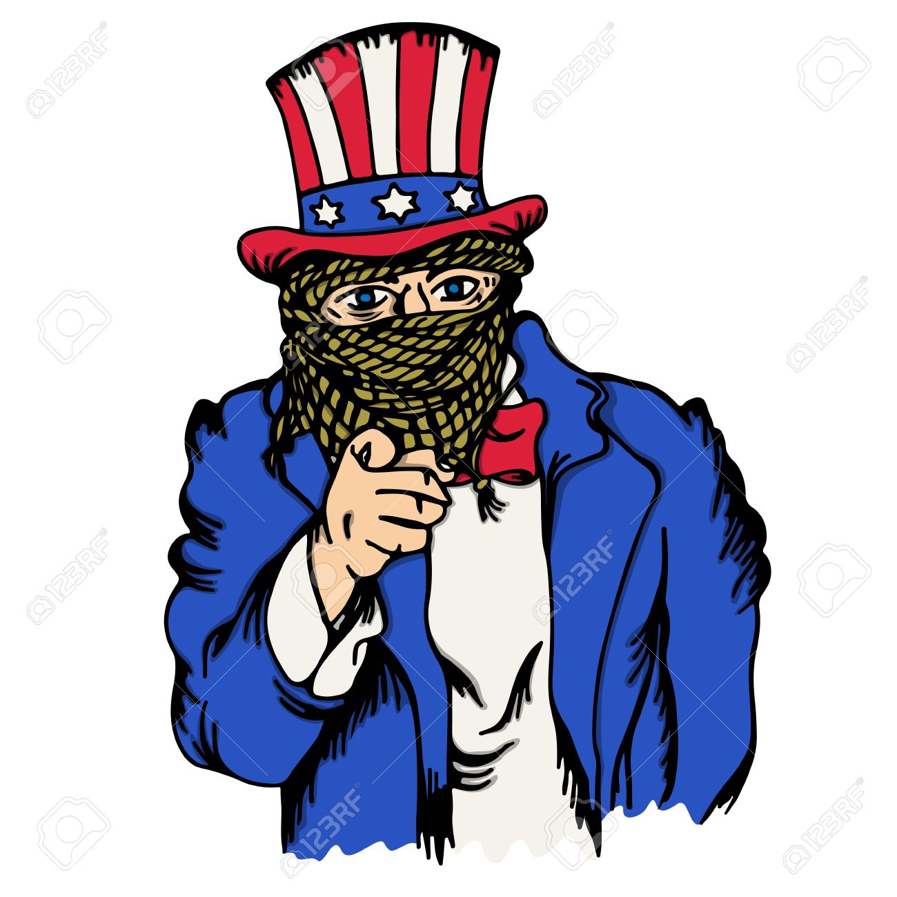 isolated cartoon the fake doppelganger of uncle sam royalty free rh 123rf com uncle sam vector png uncle sam vector png