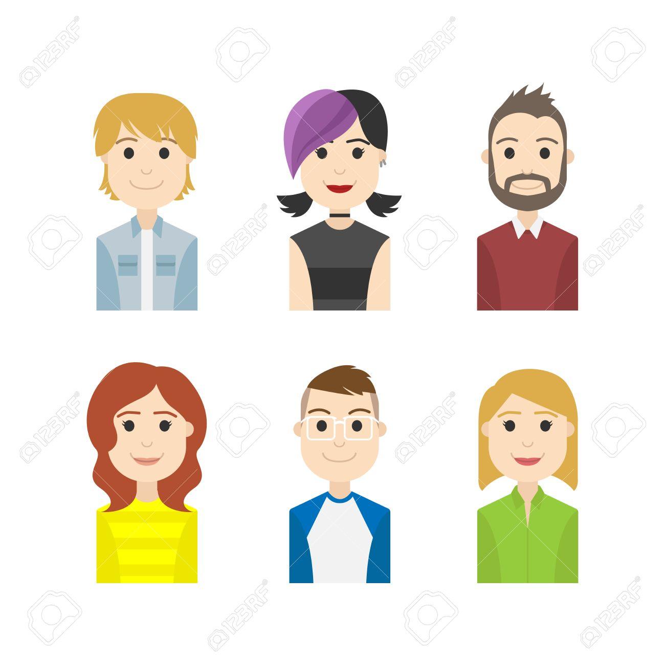 簡単な人々 アバター ビジネスとキャリア キャラクターのイラスト素材