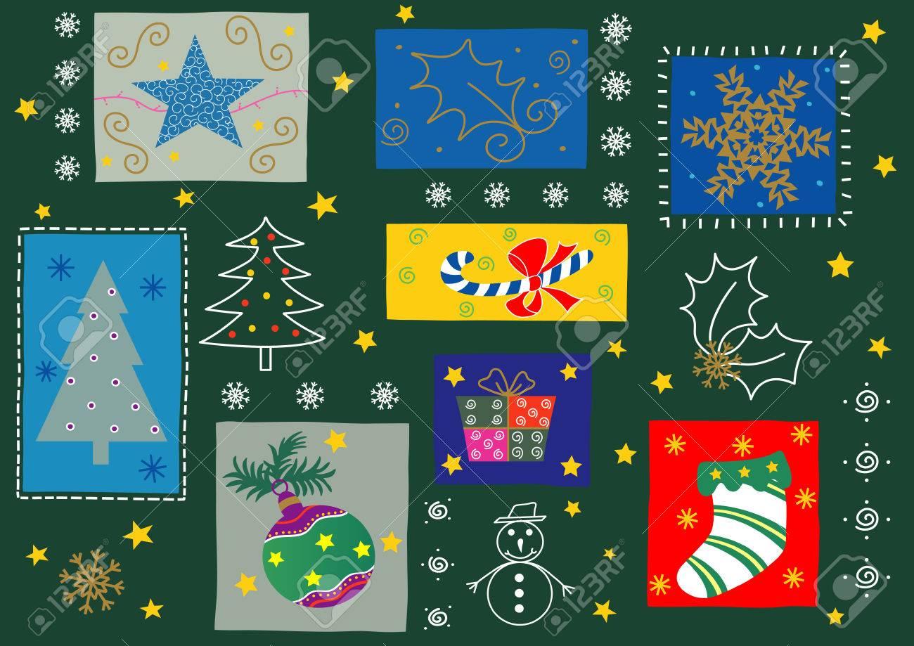 Some Christmas Season Ornaments Fully Editable Easy Color Change