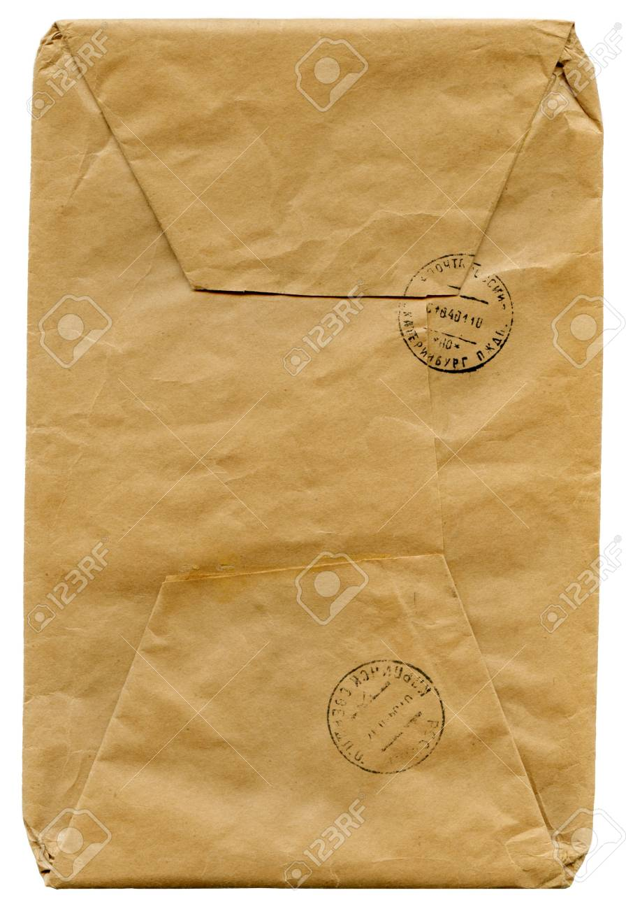 vintage envelope for a letter isolated on white Stock Photo - 2846035