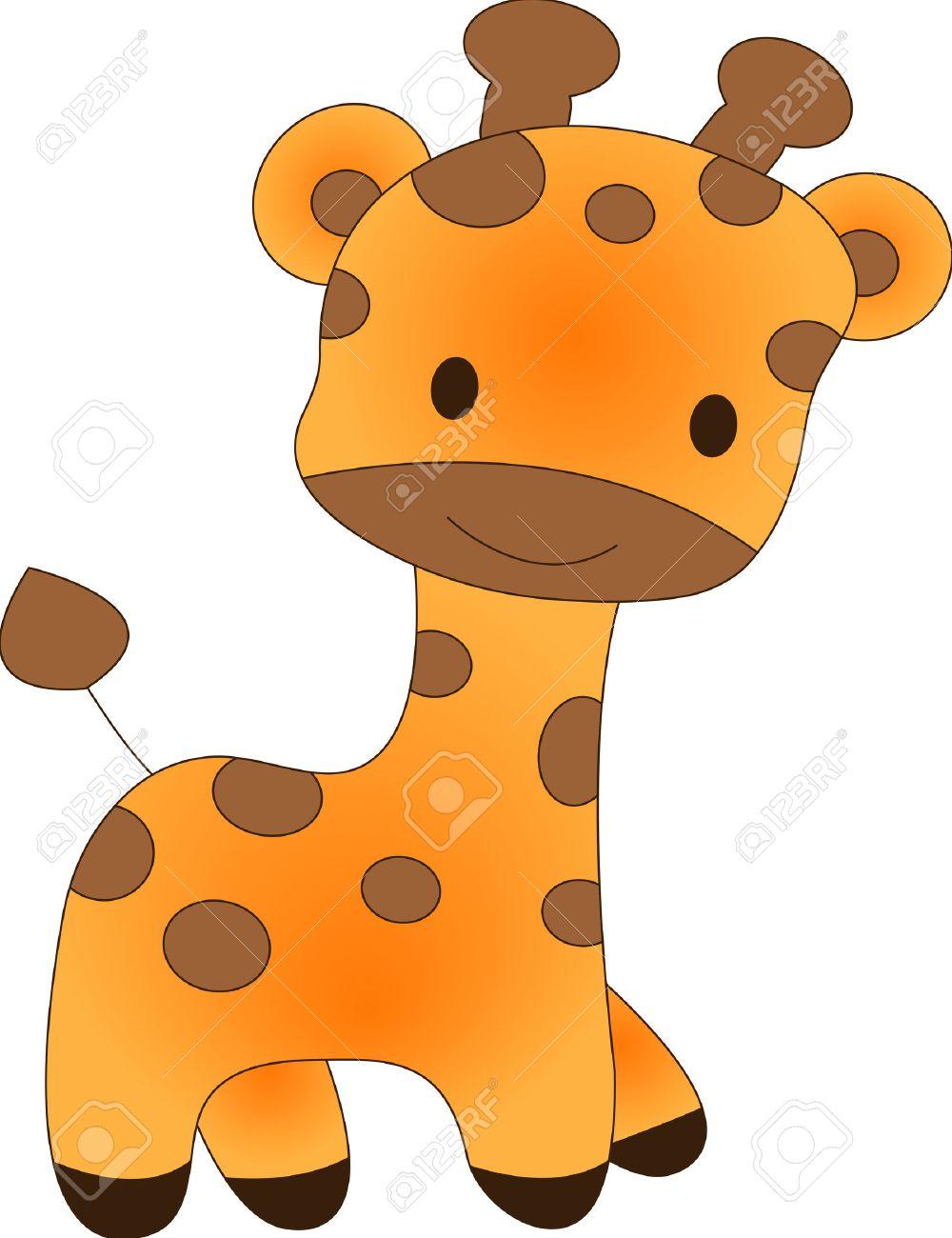 Funny giraffe - vector illustration. Fully editable, easy color change. Stock Vector - 4141862