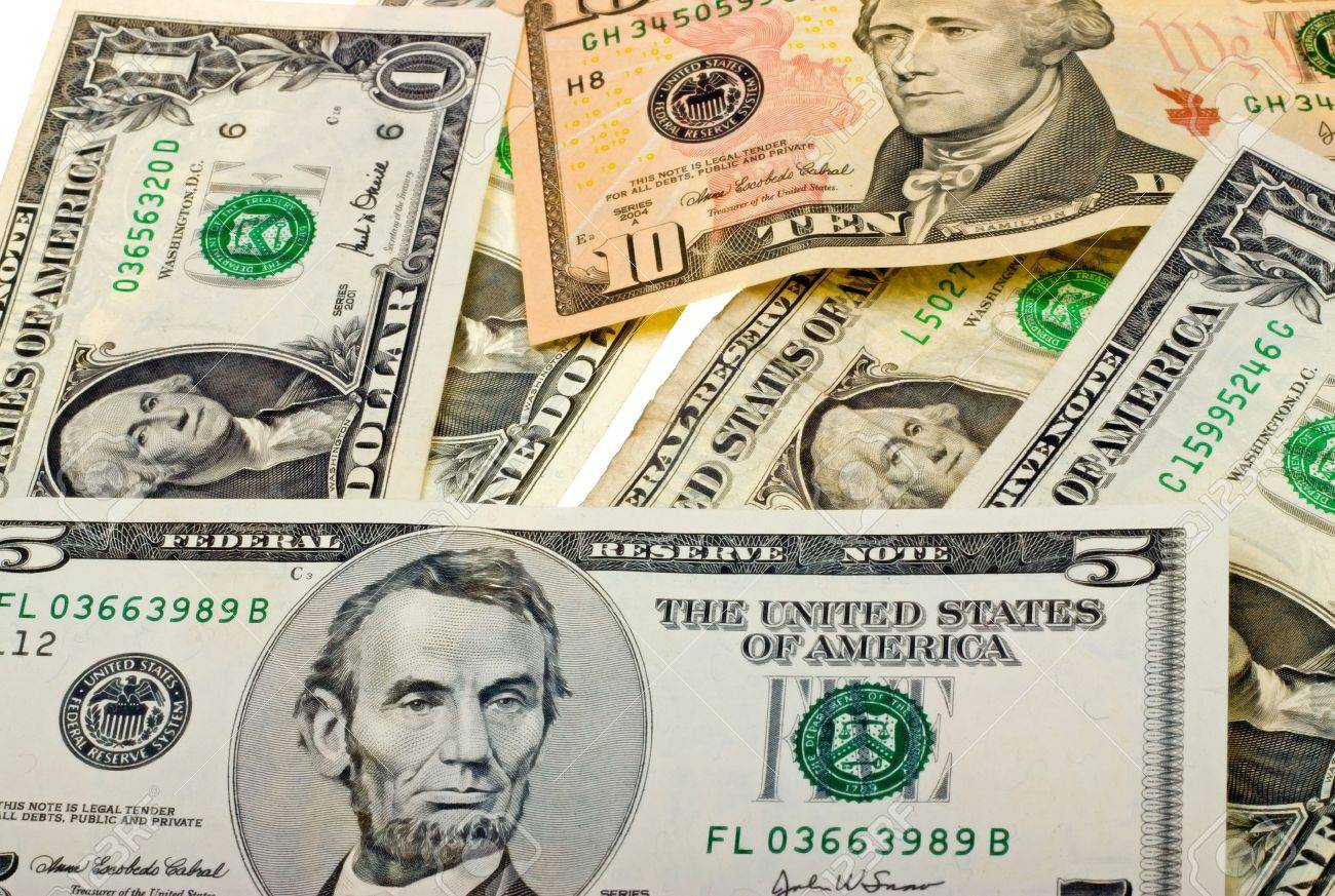 Money background from different US banknotes Stock Photo - 5556497