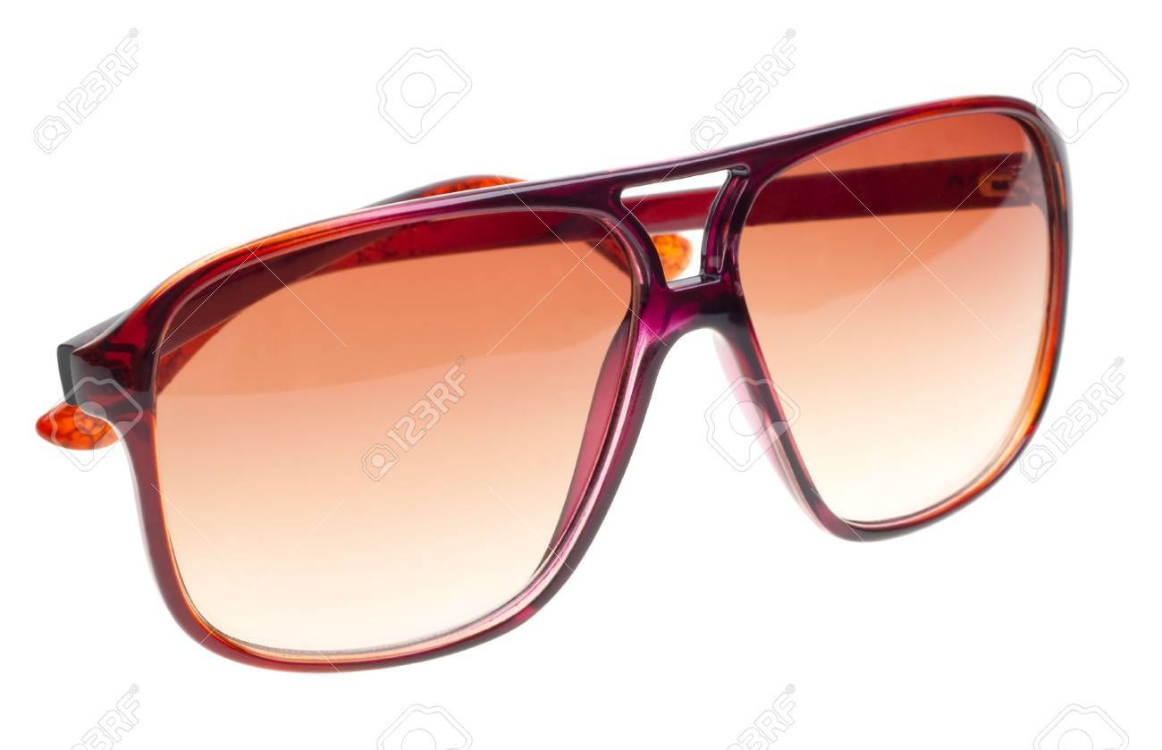 Modern brown  sunglasses isolated on white background Stock Photo - 6802483