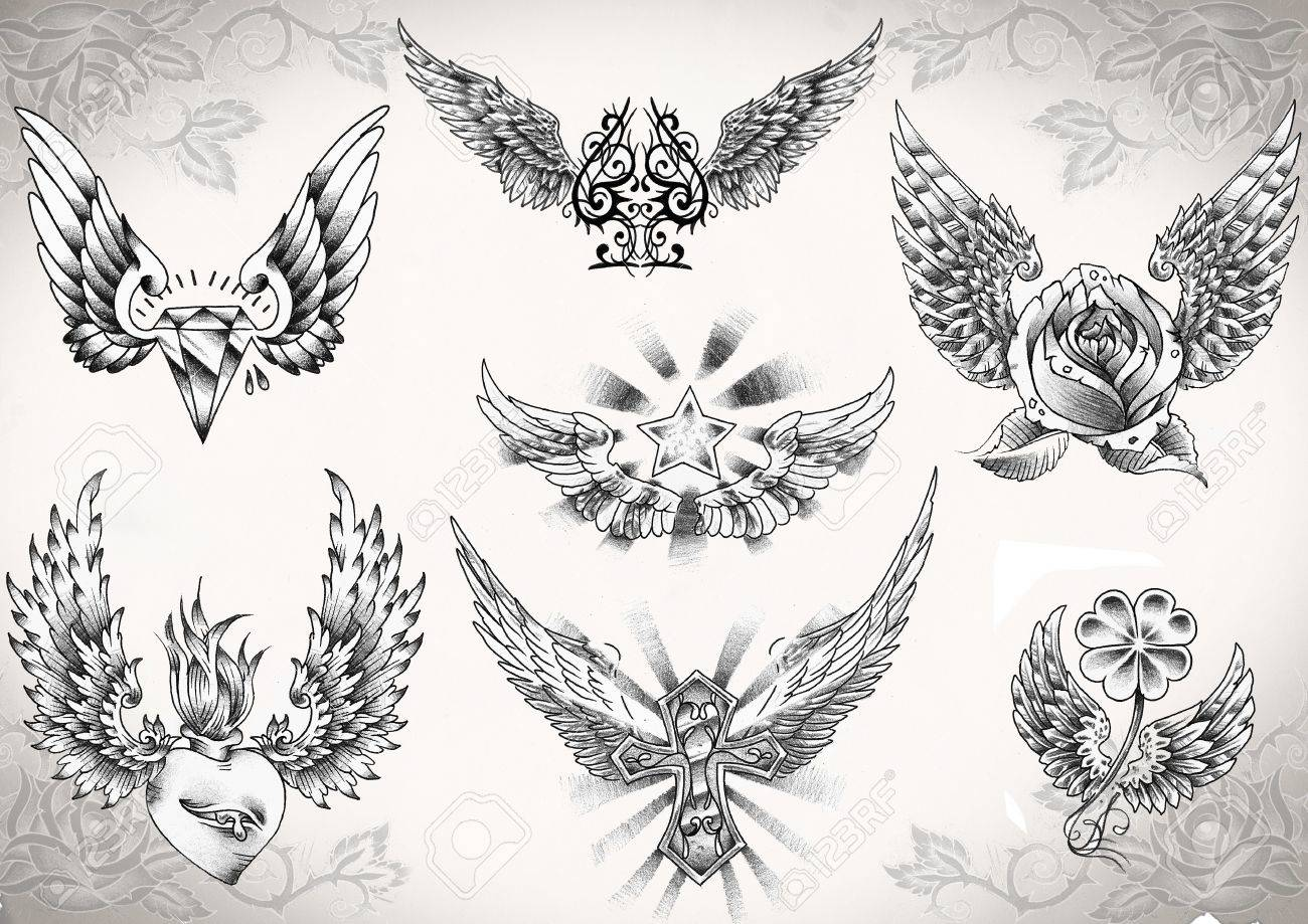 tattoo flash made by me,  no copyright Stock Photo - 8426260