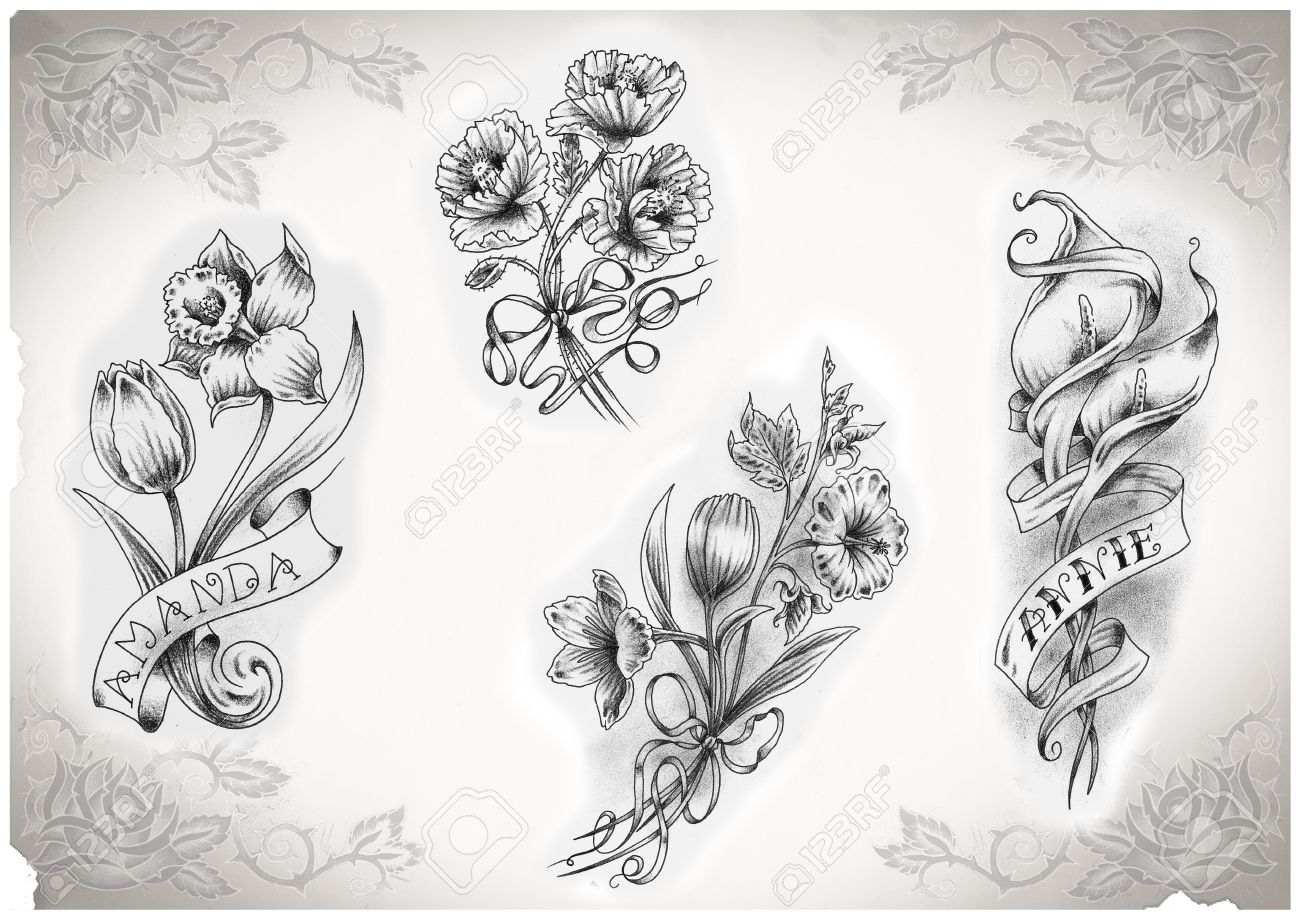 tattoo flash made by me, no copyright Stock Photo - 10431467