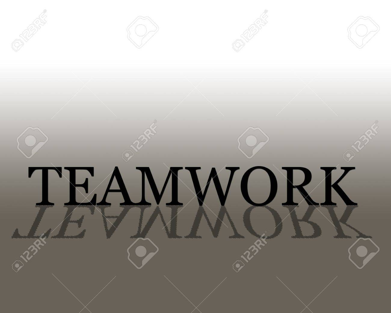 3D text with reflection Teamwork Stock Photo - 2549895