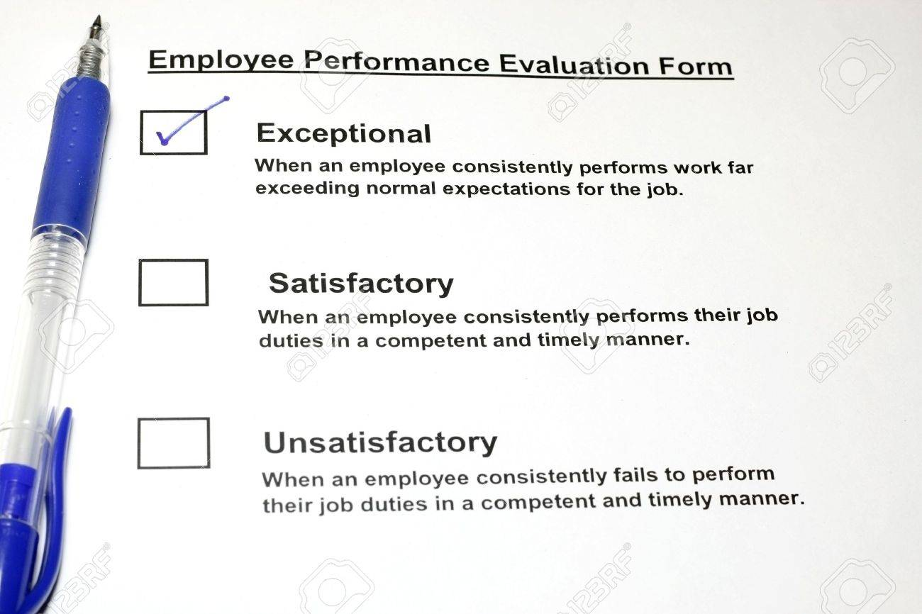 Employee Performance Evaluation Form Stock Photo, Picture And ...