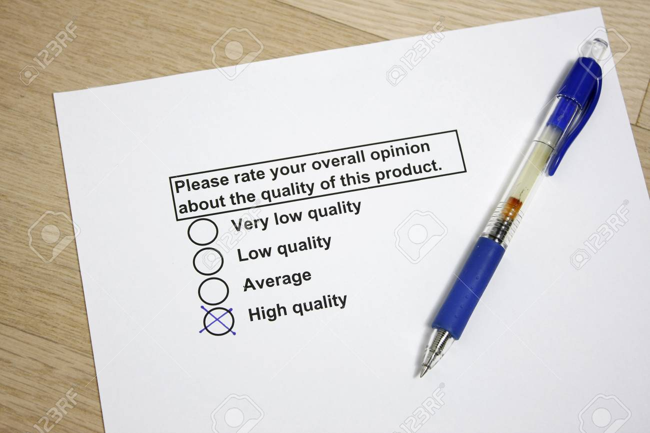 Survey of product quality concept Stock Photo - 4416795
