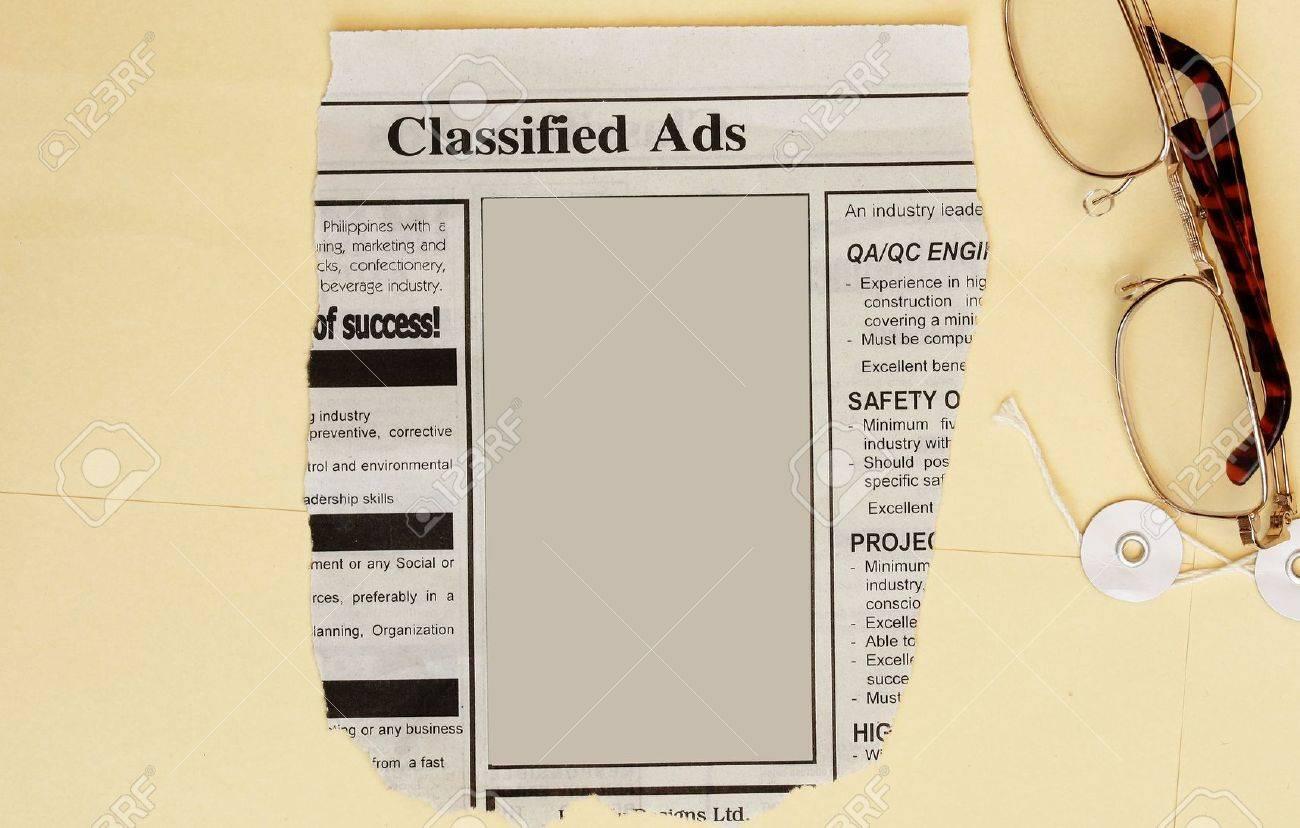 Newspaper classified ads Stock Photo - 5514031