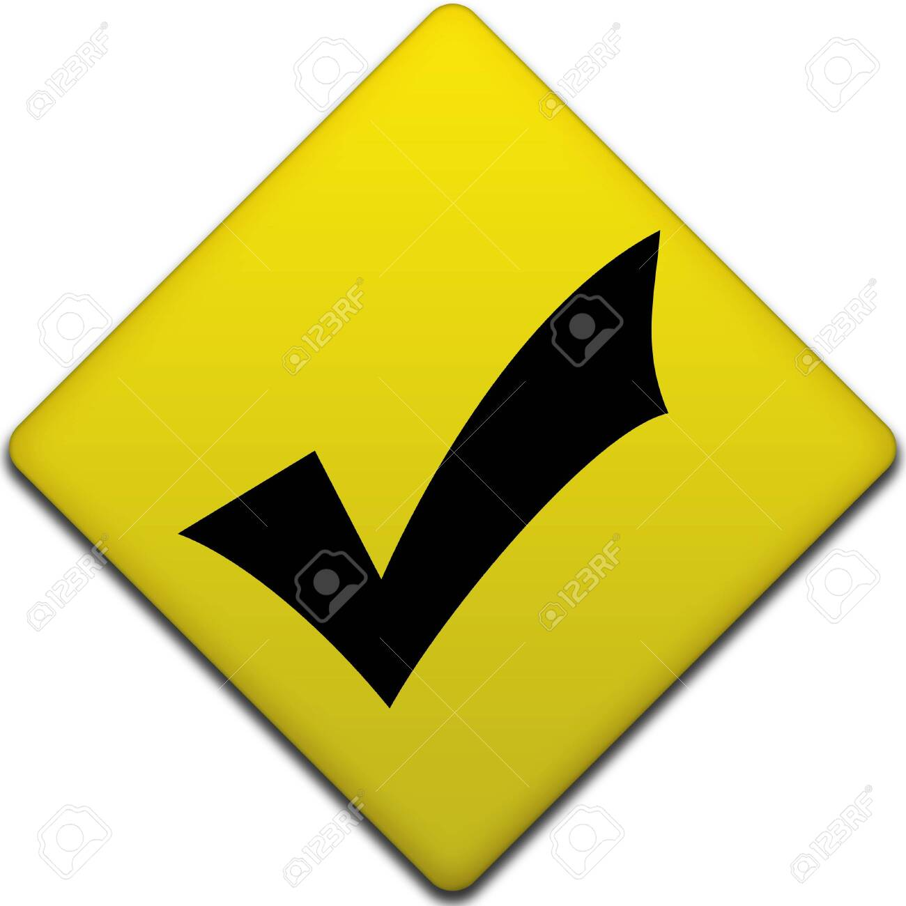 check mark computer generated illustration for disign Stock Photo - 5602646