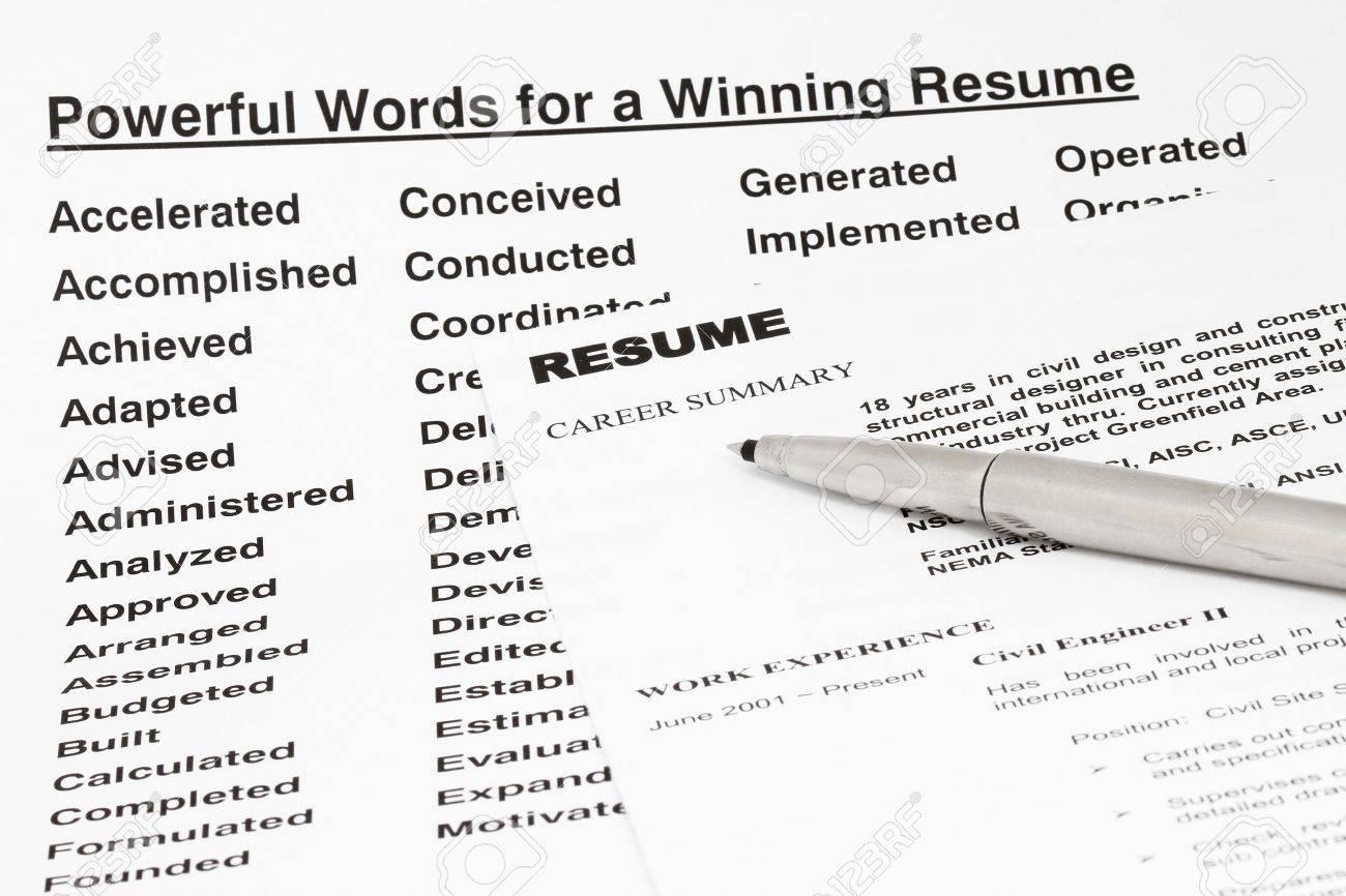Palabras Poderosas Para Ganar Que Un Curriculum Vitae Manu Se