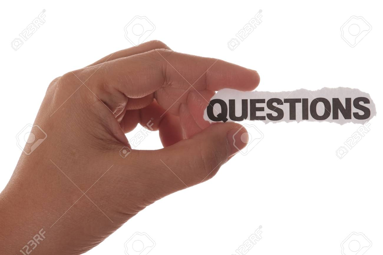 hand with question mark with copy space Stock Photo - 8775578