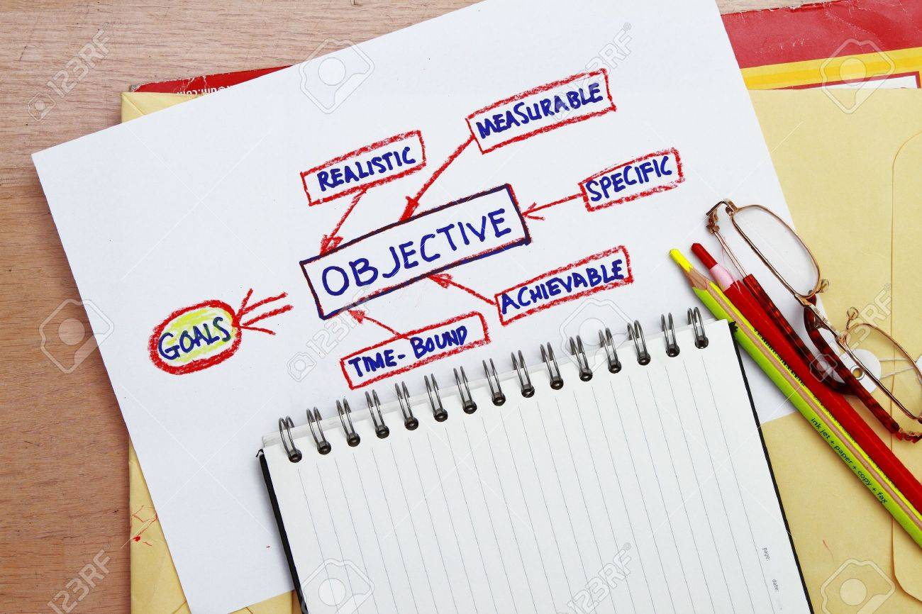 goal and objective abstract - concept for management tools and flowchart Stock Photo - 8775606