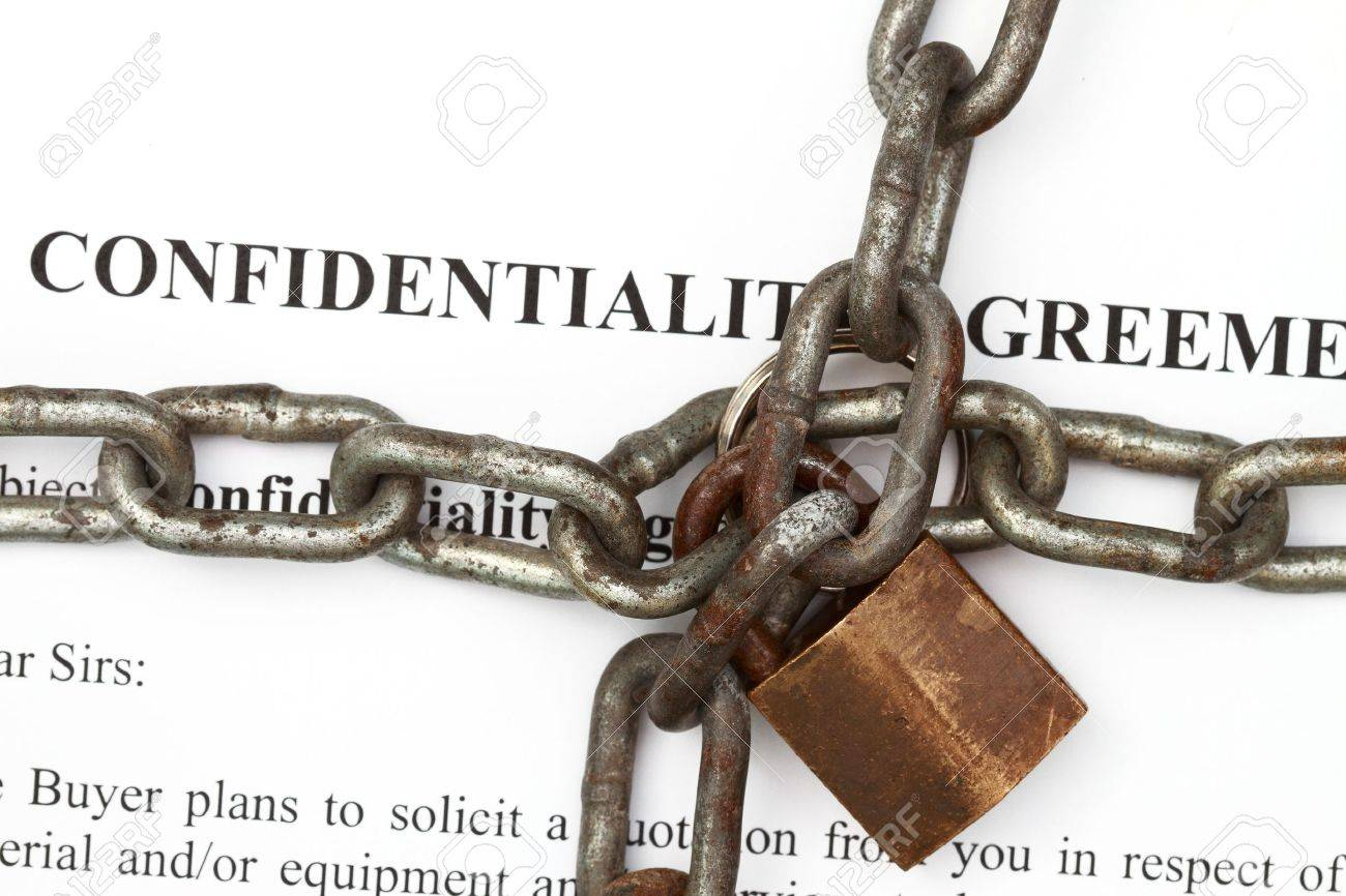 Lock and chain in confidentiality agreement background Stock Photo - 8775619