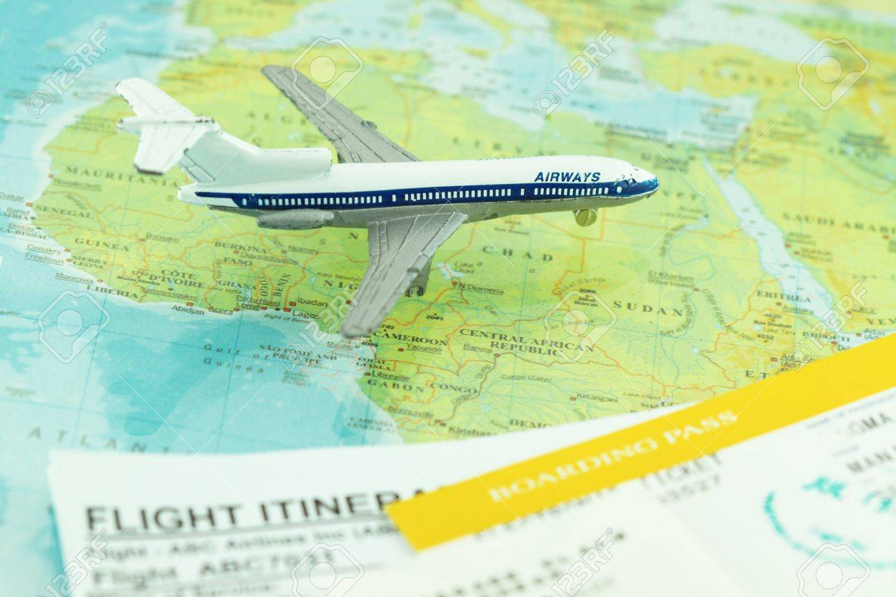 Travel and flight concept with boarding pass and flight itinerary Stock Photo - 9005390