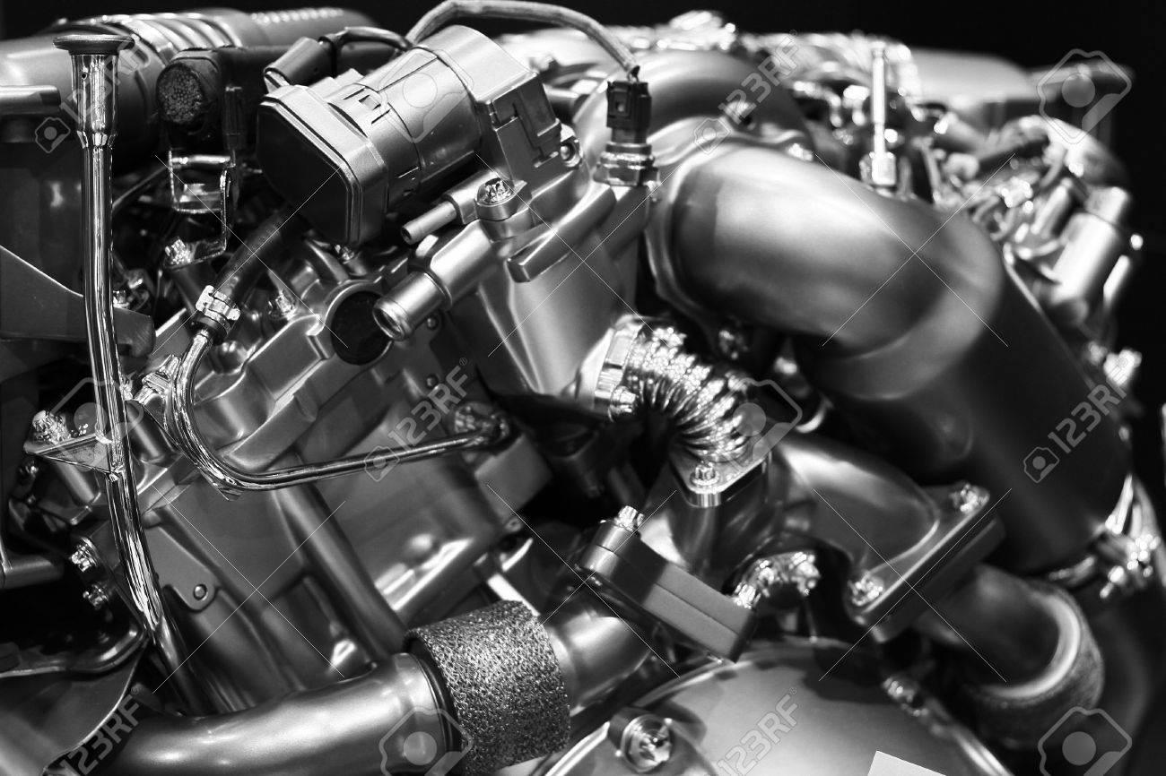 Close up shot of modern diesel engine block Stock Photo - 9322142