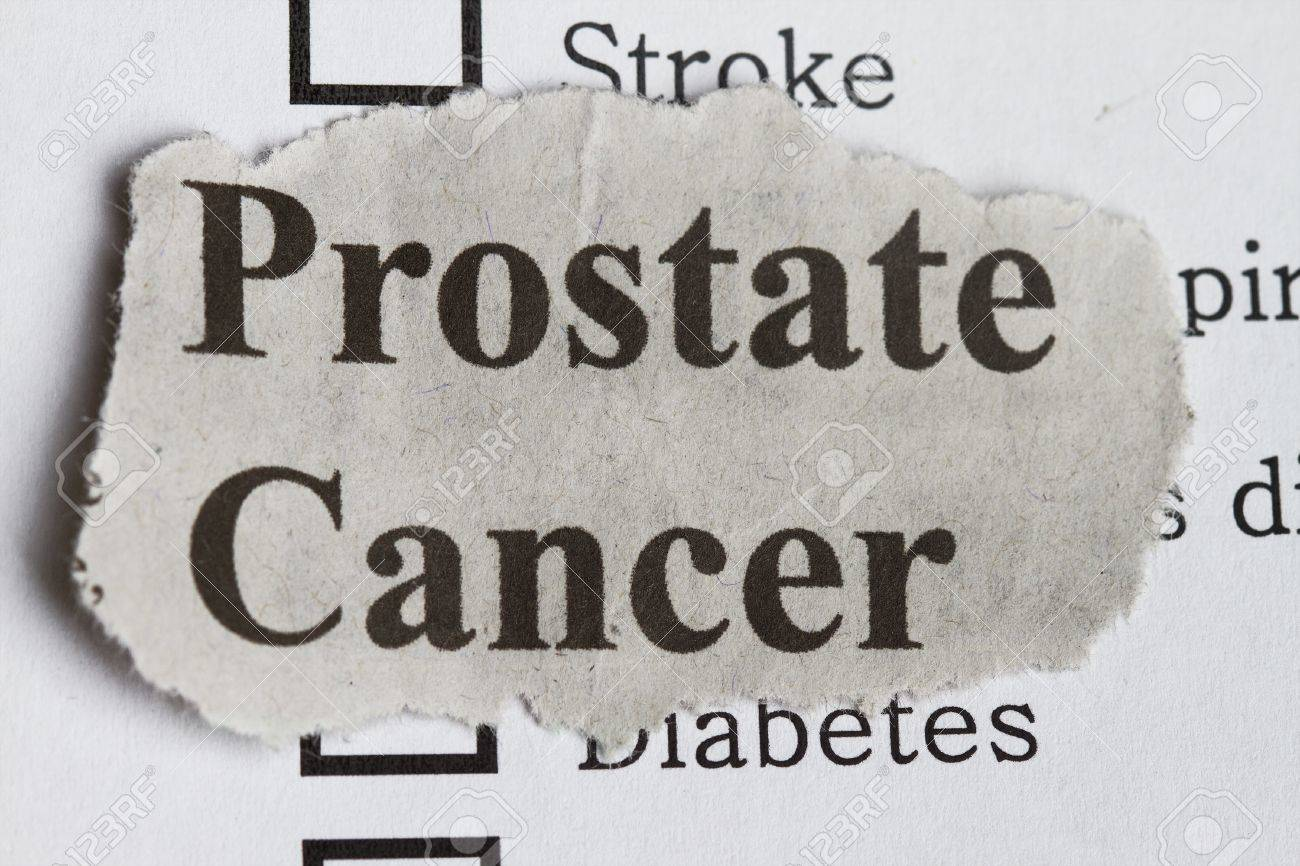 Prostate cancer abstract with survey and newspaper cutout. Stock Photo - 13858243