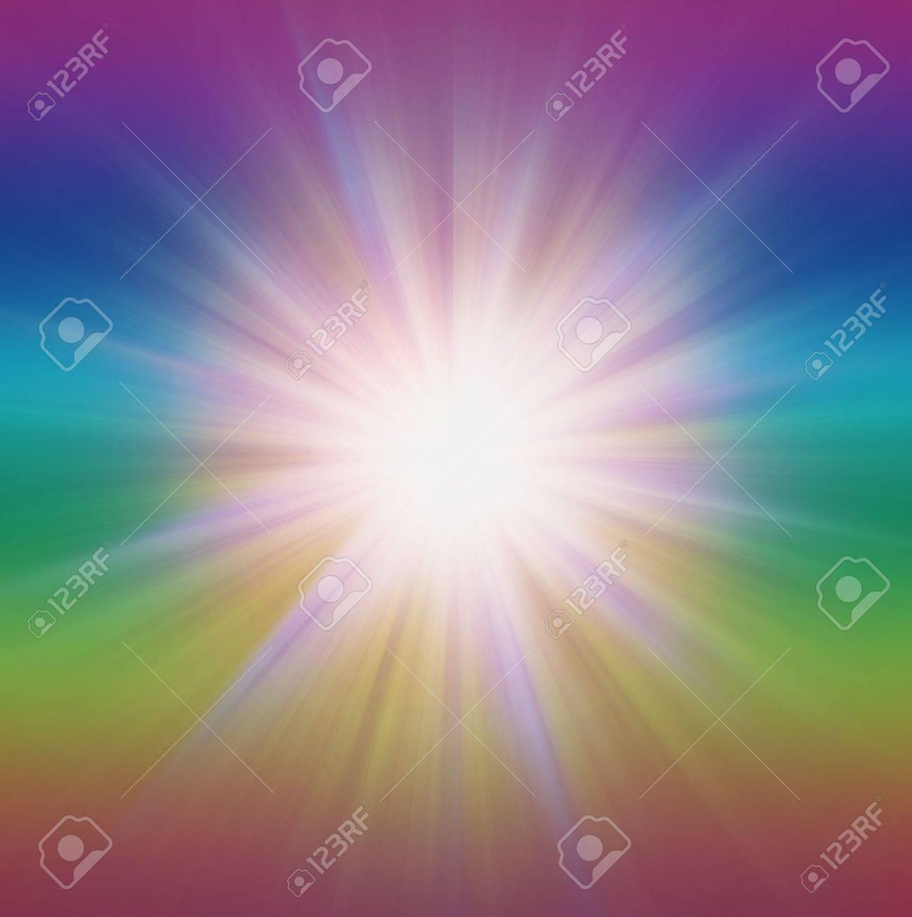 Radial zoom burst of energy, abstract background illustration Stock Illustration - 14803687