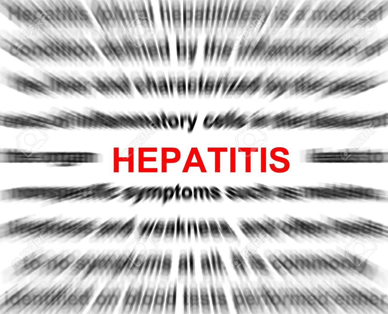 focus on hepatitis blur radial background abstract Stock Photo - 15221221
