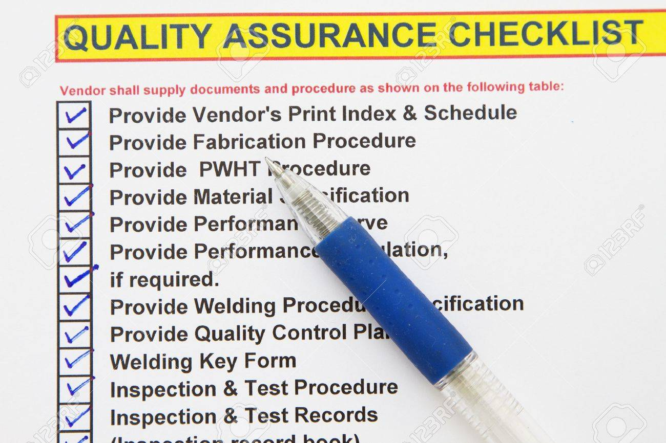 Quality Assurance Checklist- Many Uses In The Oil And Gas Industry ...