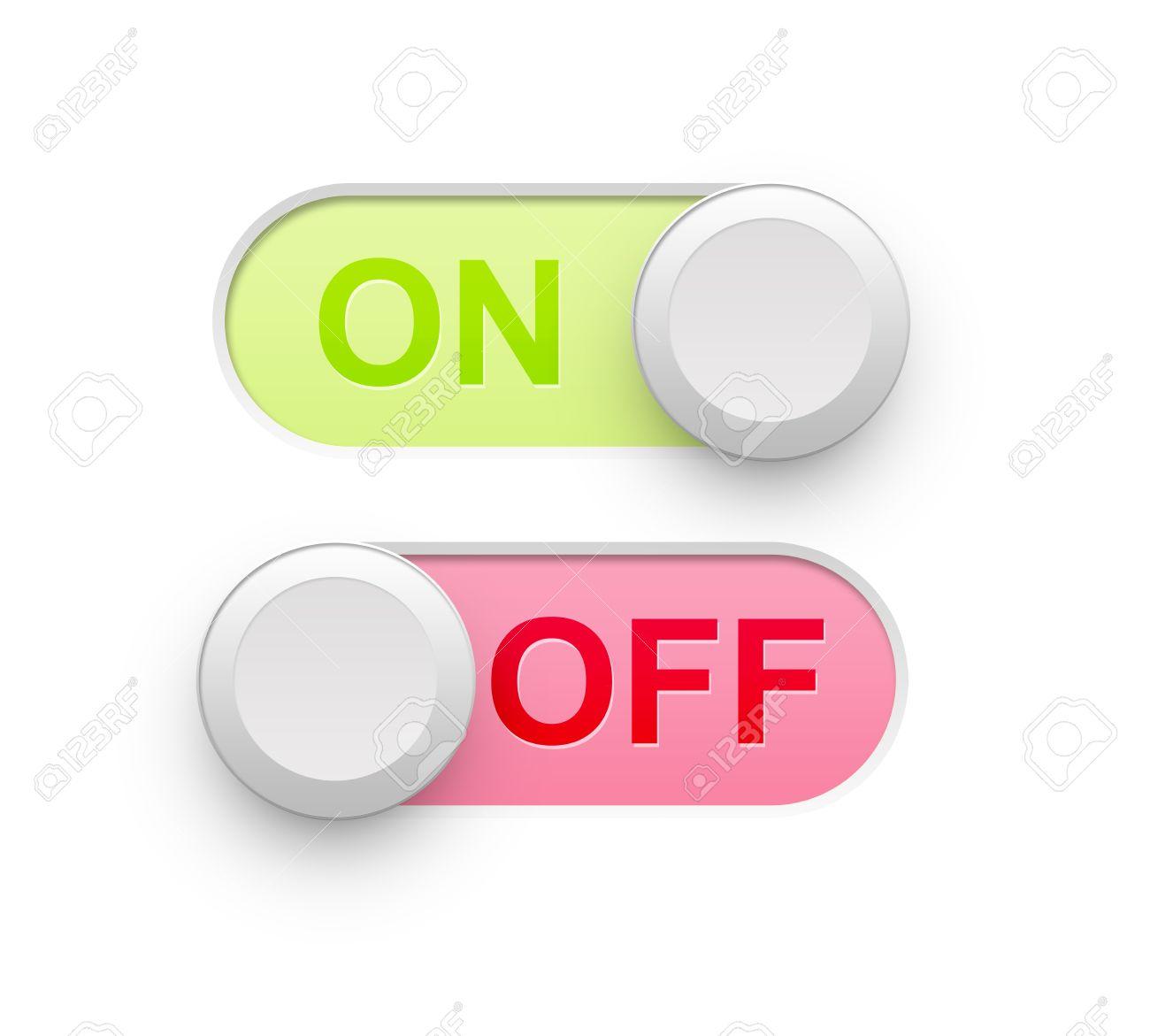 Realistische Ein Aus Schalter Icon Illustration Hochauflösende ...