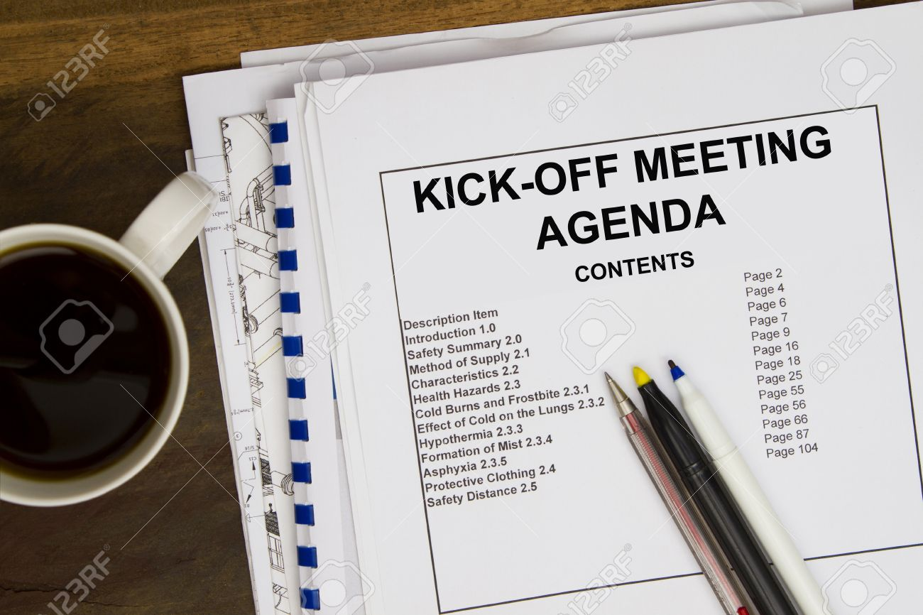 Kick off meeting agendal with blueprint and coffee stock photo kick off meeting agendal with blueprint and coffee stock photo 22930731 malvernweather Choice Image