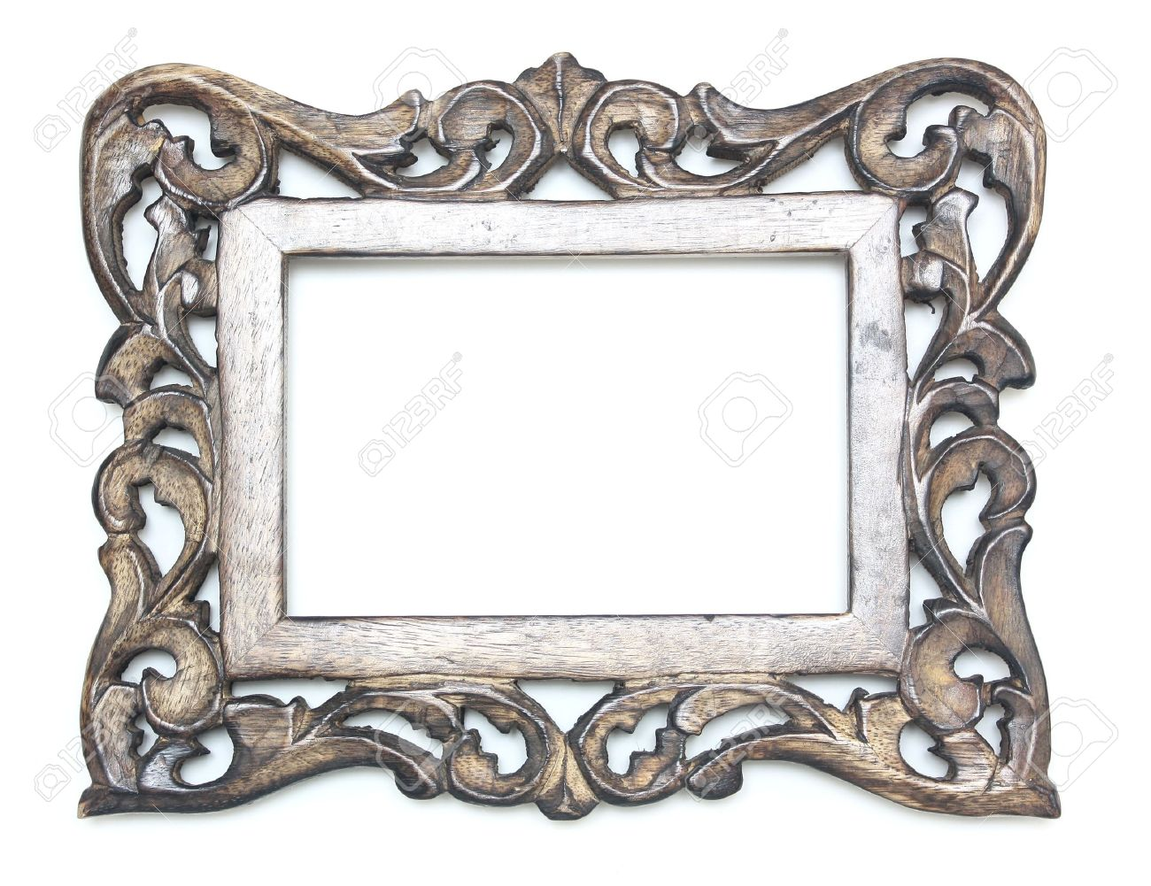 Rectange Wooden Picture Frame Stock Photo, Picture And Royalty Free ...