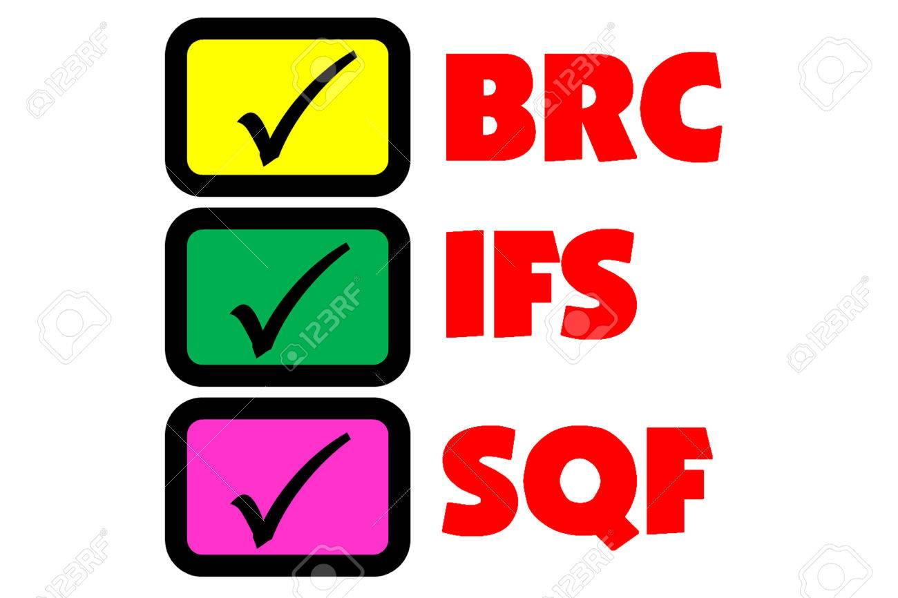 picture is show selection of food safety system all of BRC, IFS