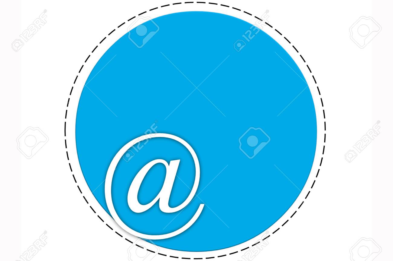 The circle symbol with @ word at the bottom edge and the inner space Stock Photo - 27144633