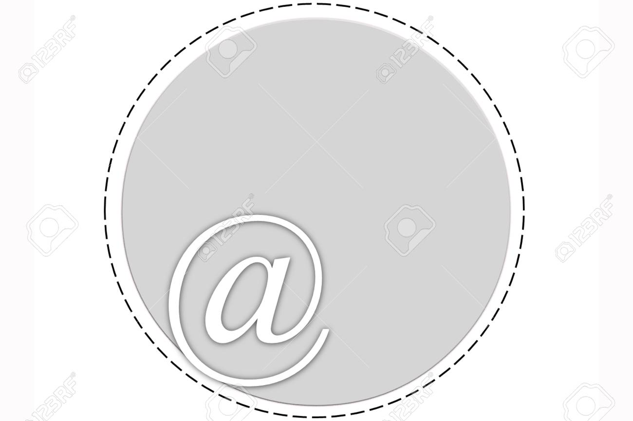 The circle symbol with @ word at the bottom edge and the inner space Stock Photo - 27144576