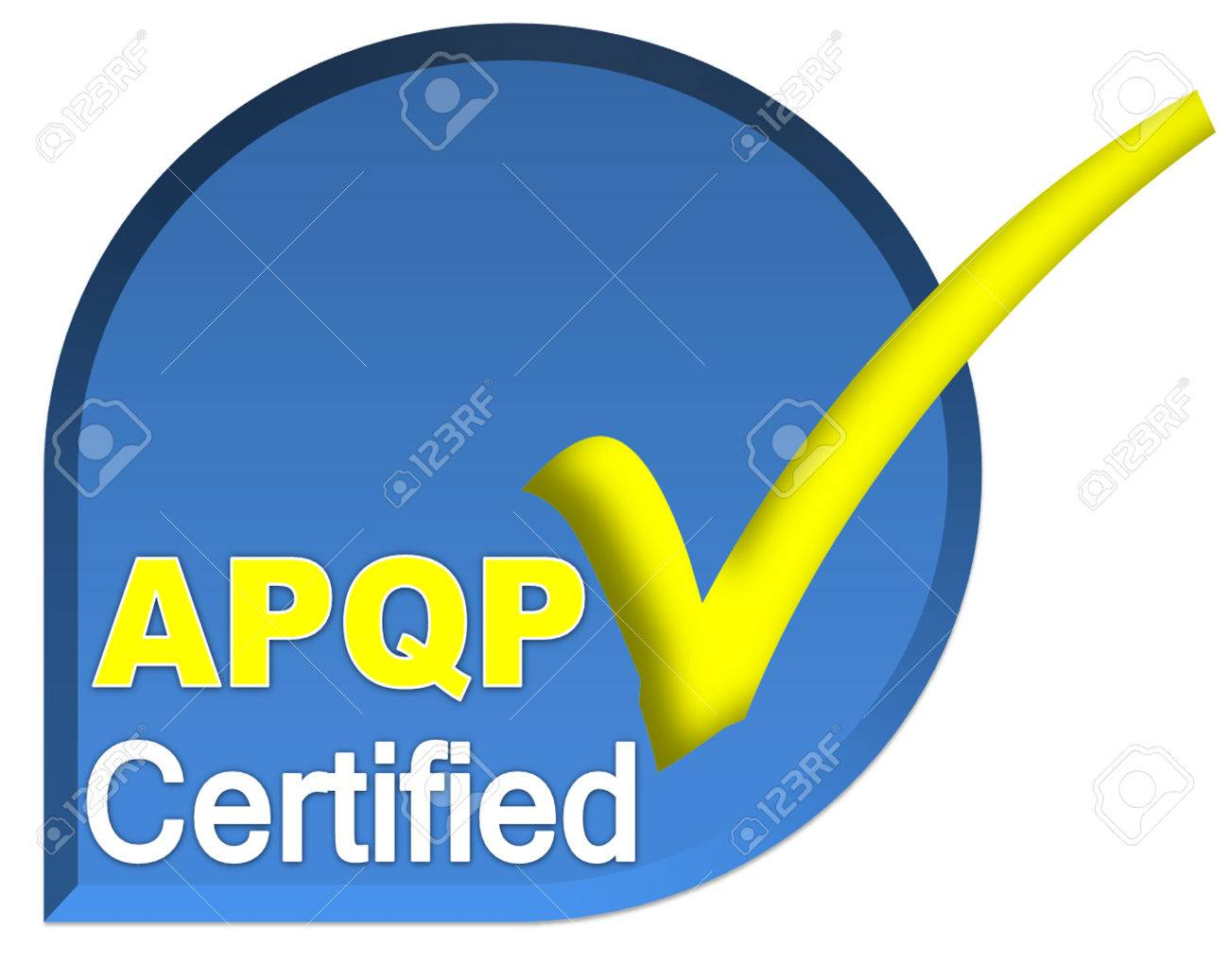 Certificate Logo Or Symbol Of Apqp System On Blue Color Stock Photo
