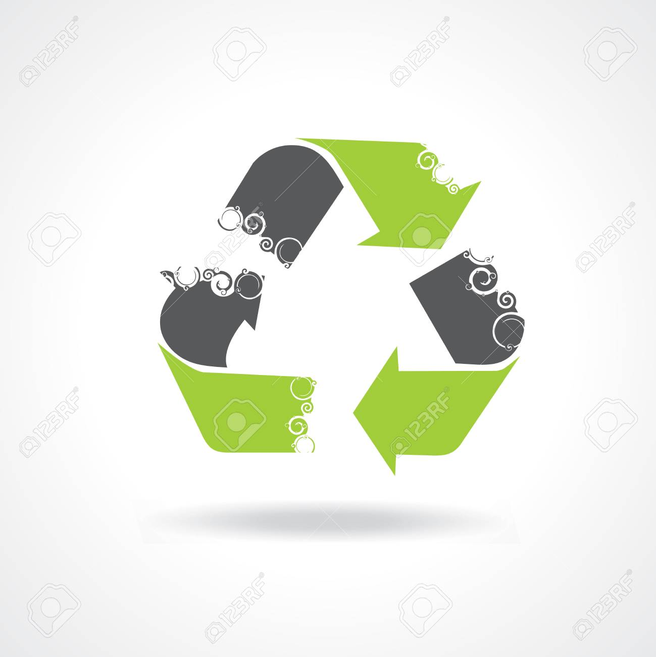 swirl recycle Icon Set for Web Applications - Vector Stock Vector - 4744002