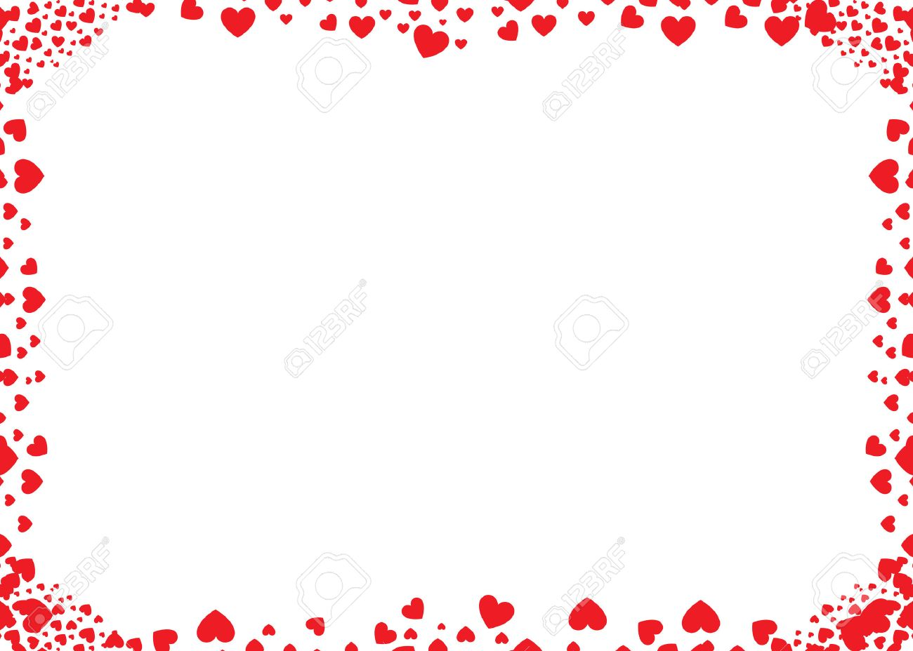 Vector Frame Of Red Hearts Royalty Free Cliparts, Vectors, And Stock ...