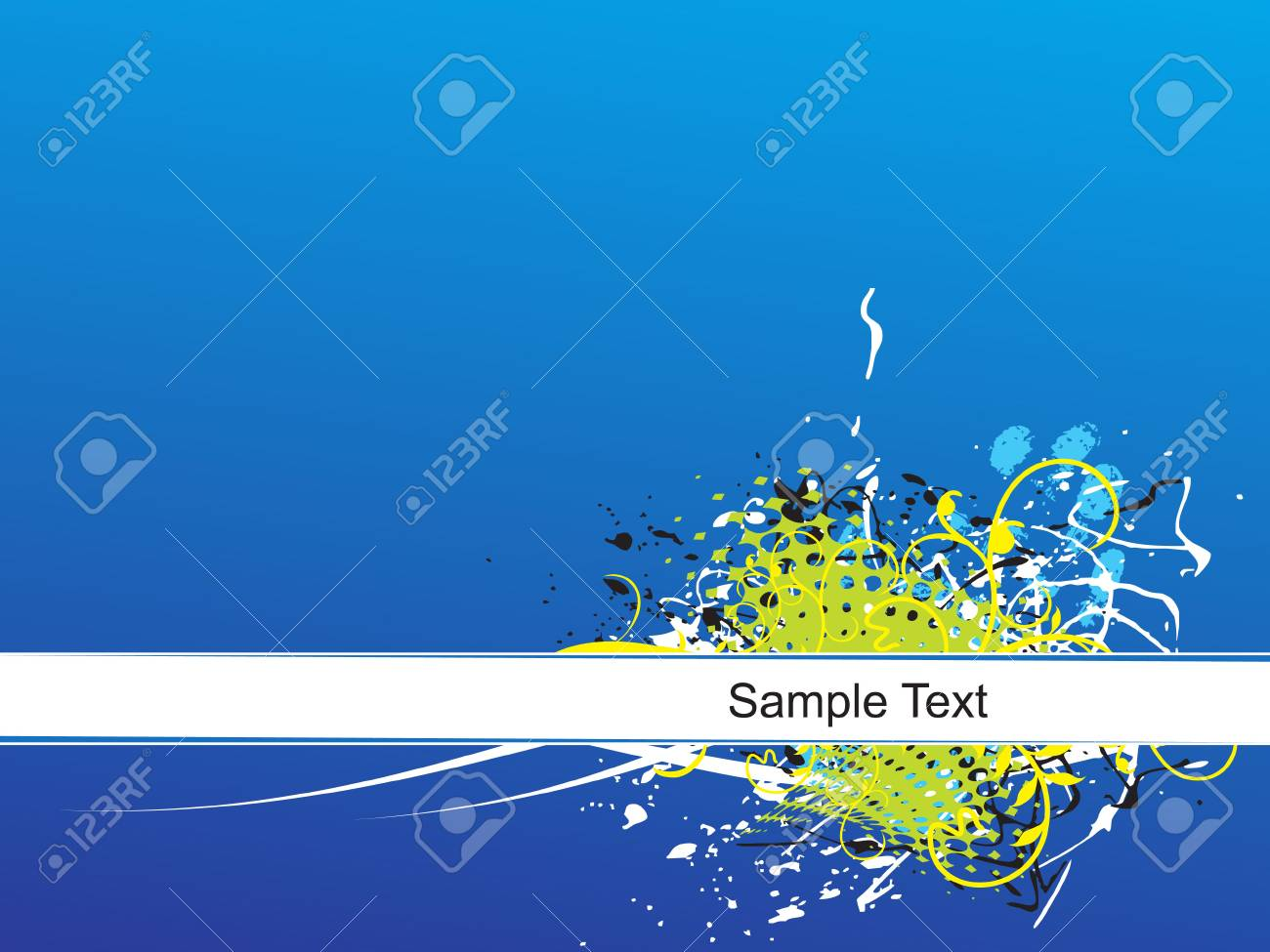 grunge floral and lines background Stock Vector - 5023893