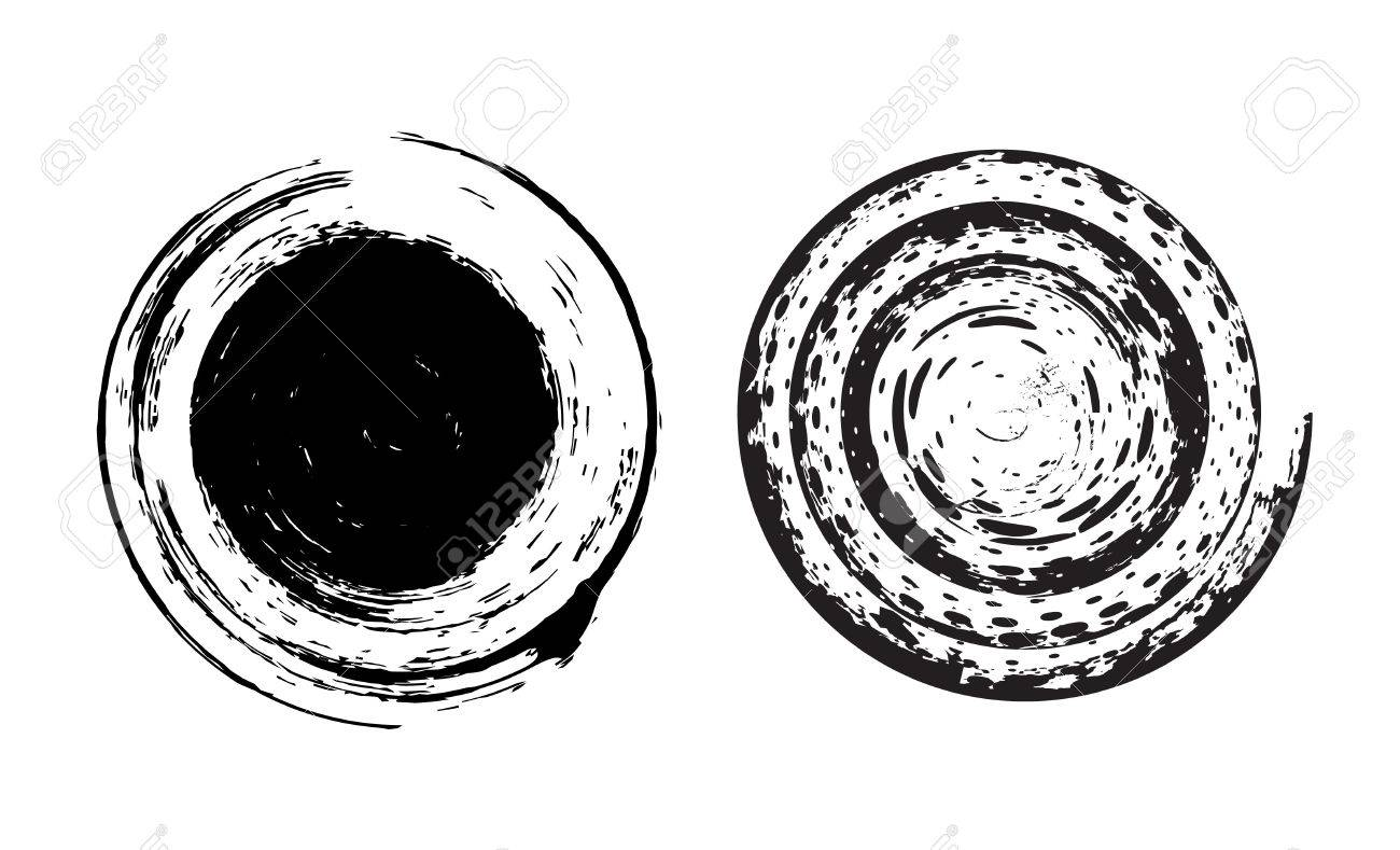 two different type vector circle Grunge brushes Stock Vector - 5292932
