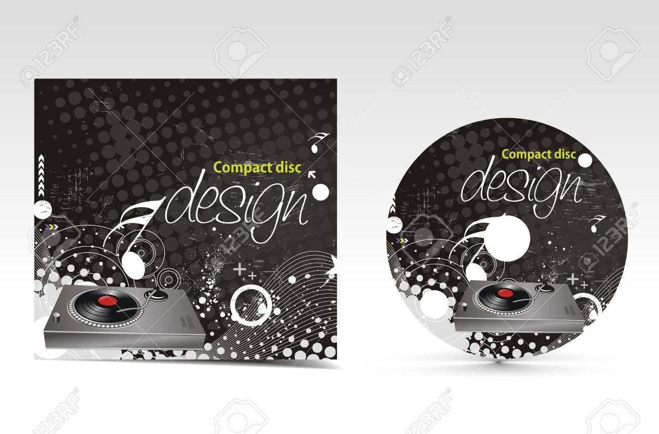vector music cd cover design template with copy space royalty free