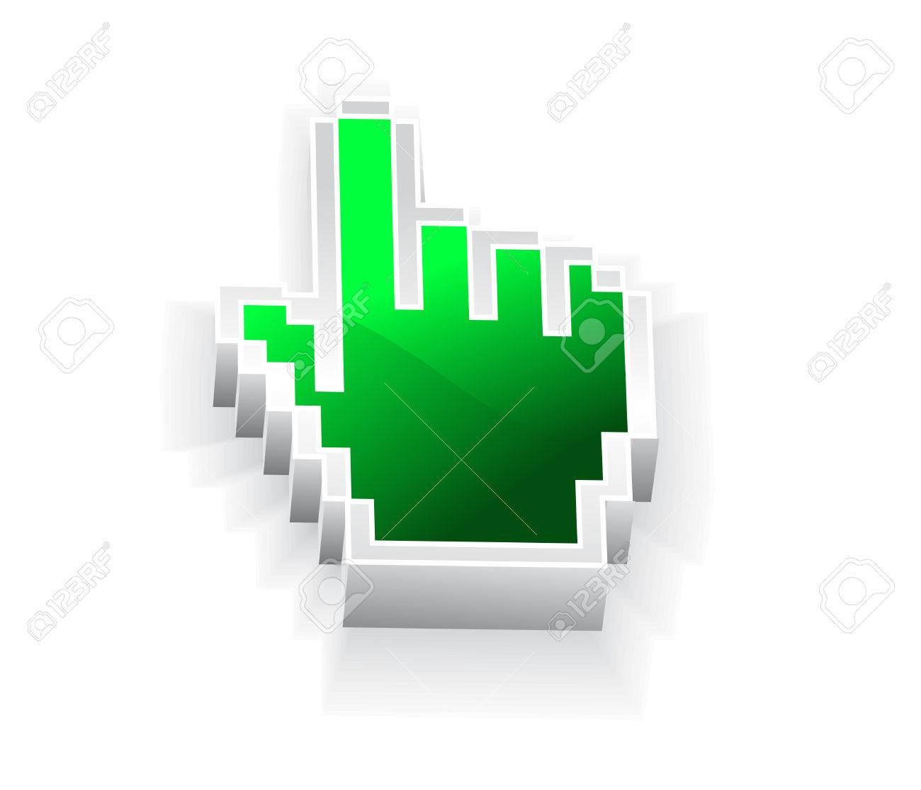 3d vector hand mouse symbol Stock Vector - 5446913