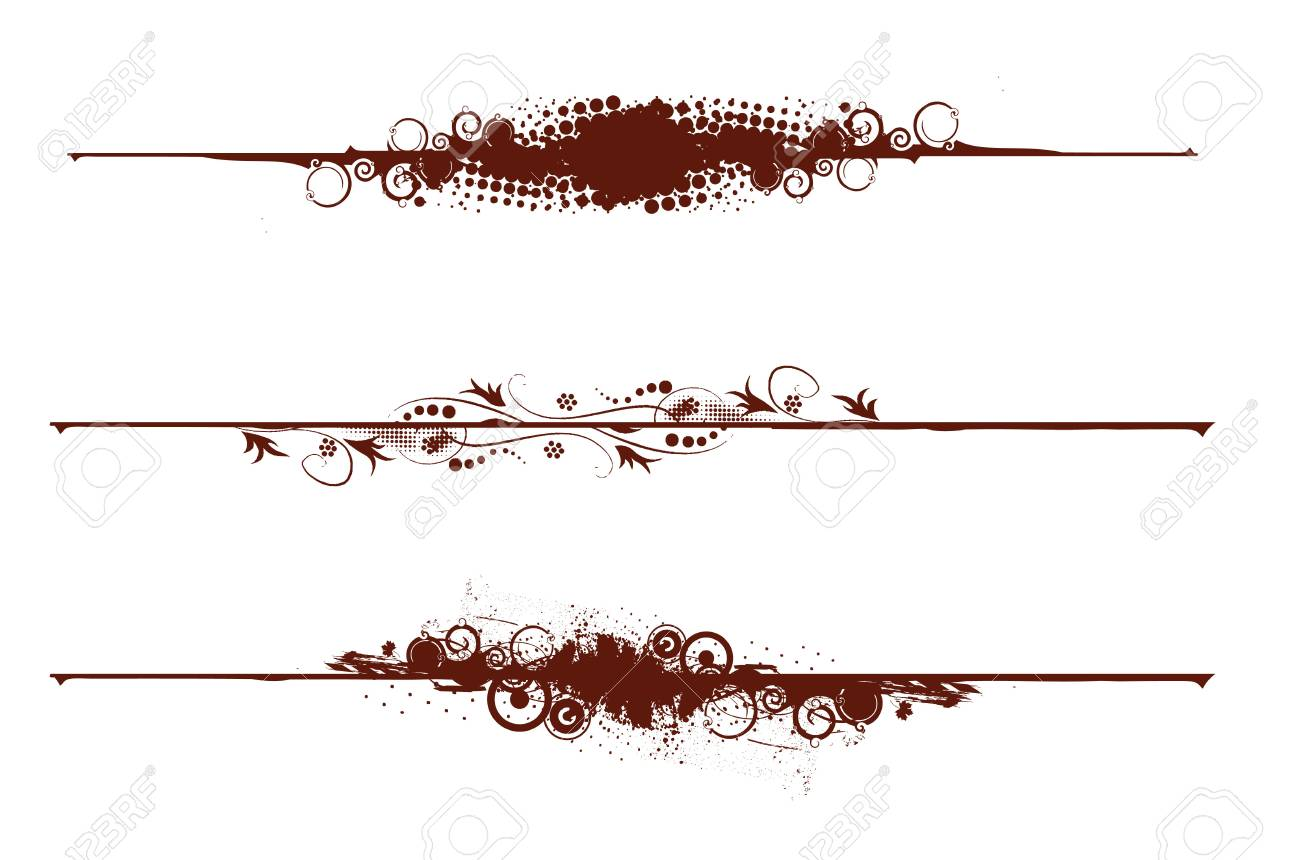 three different Grunge banners with place for your text. Stock Vector - 5513245