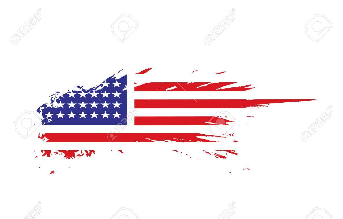 grunge american flag background Stock Vector - 5805789