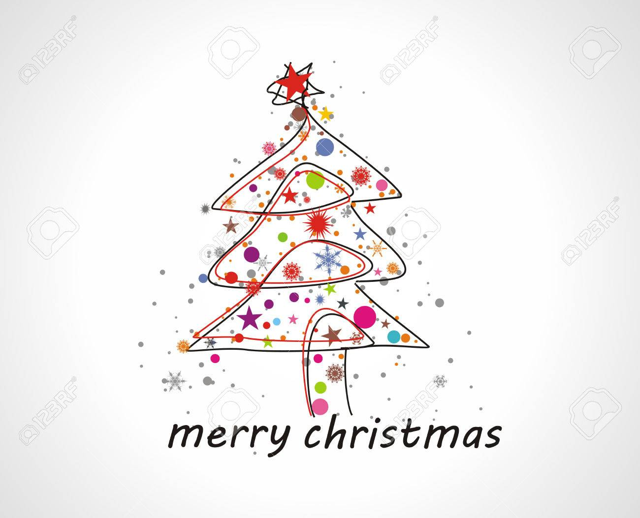 Abstract christmas tree on white background Stock Vector - 5823454