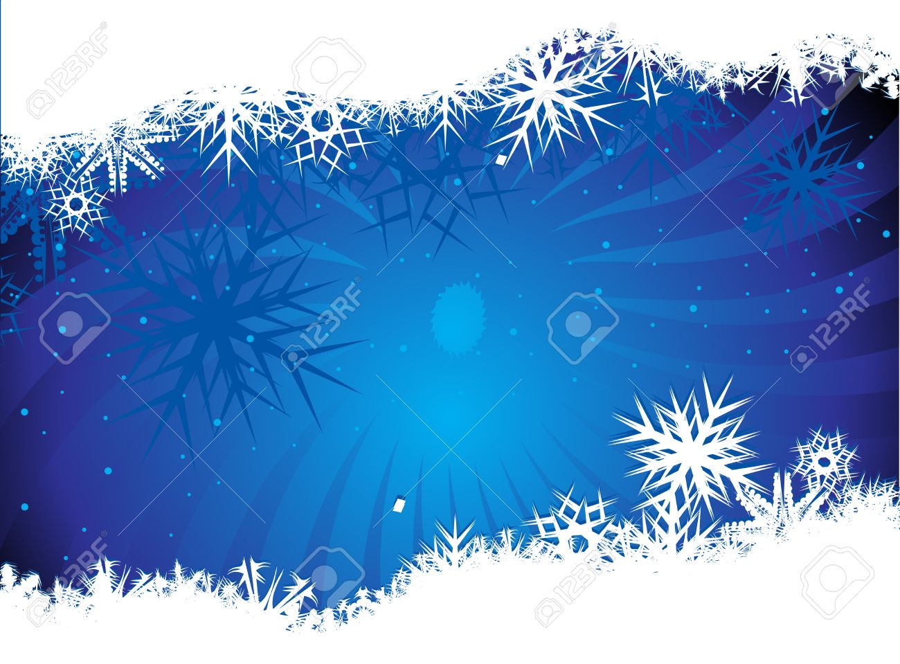 Abstract christmas snow on blue background Stock Vector - 5823488