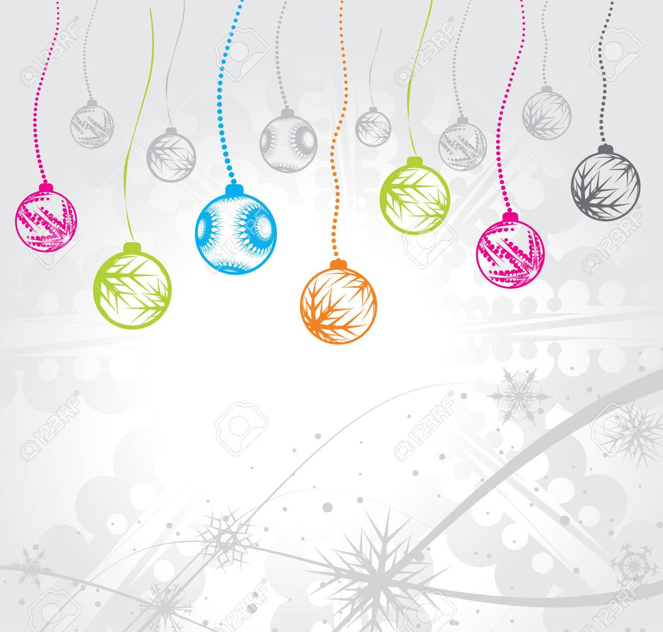 Abstract christmas ball on wave line background, vector illustration for xmas Stock Vector - 5854090