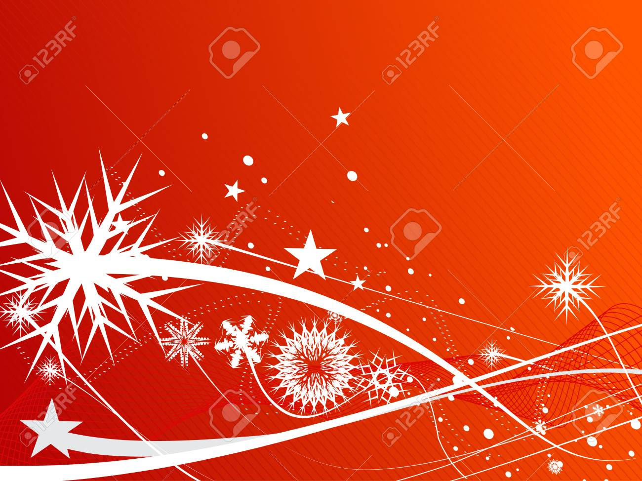 Abstract christmas snow on red background, vector illustration for xmas Stock Vector - 5883853