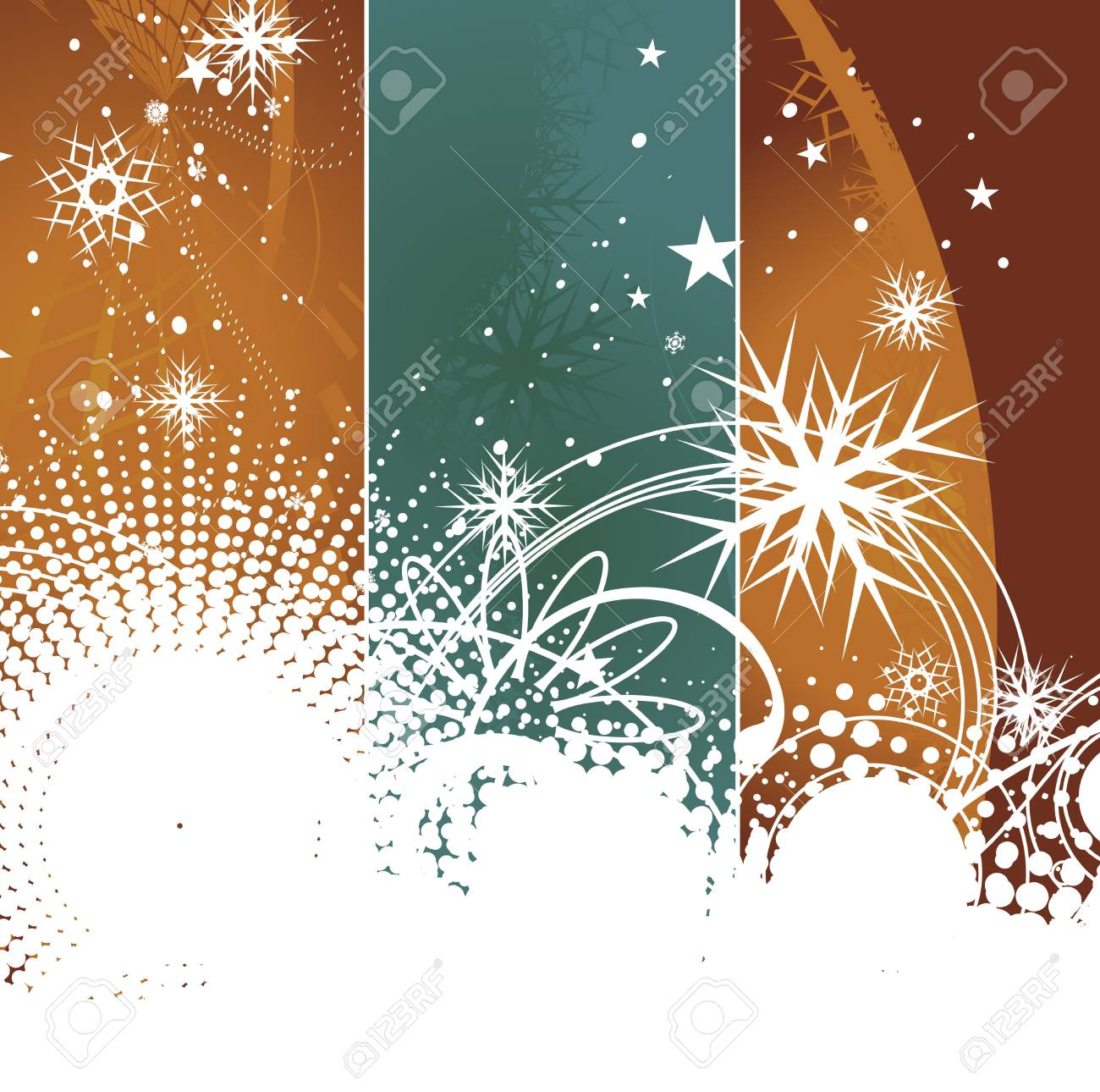 Abstract christmas banner background with space of your text, vector illustration for xmas Stock Vector - 6035507