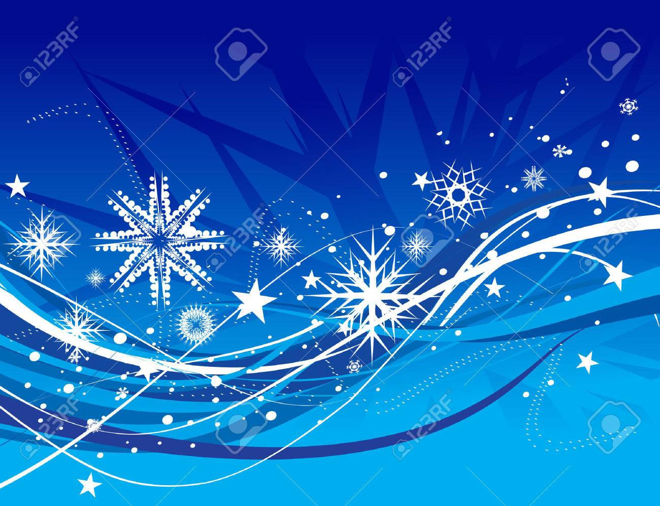 Abstract christmas snow on wave line background, vector illustration for xmas Stock Vector - 6035905