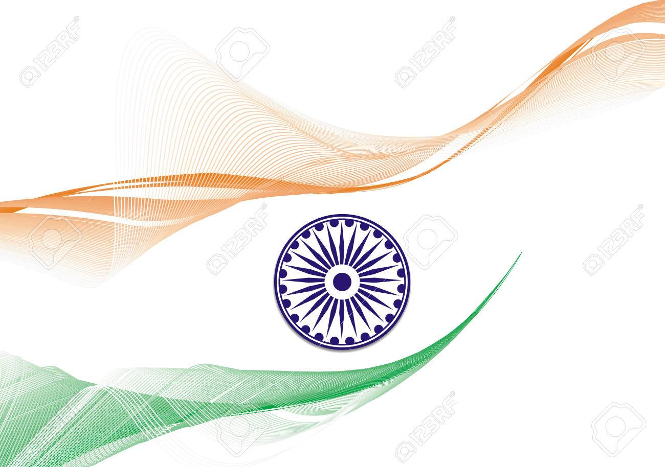 flag of India with white background, illustration Stock Vector - 6176636