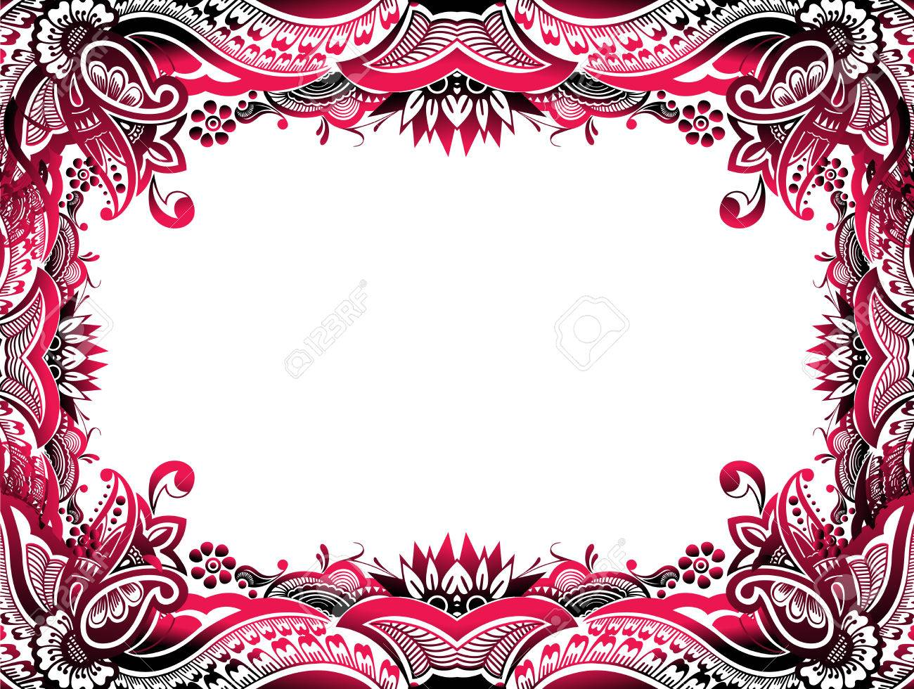 Abstract Floral Border Background Easy To Edit Of Your Project
