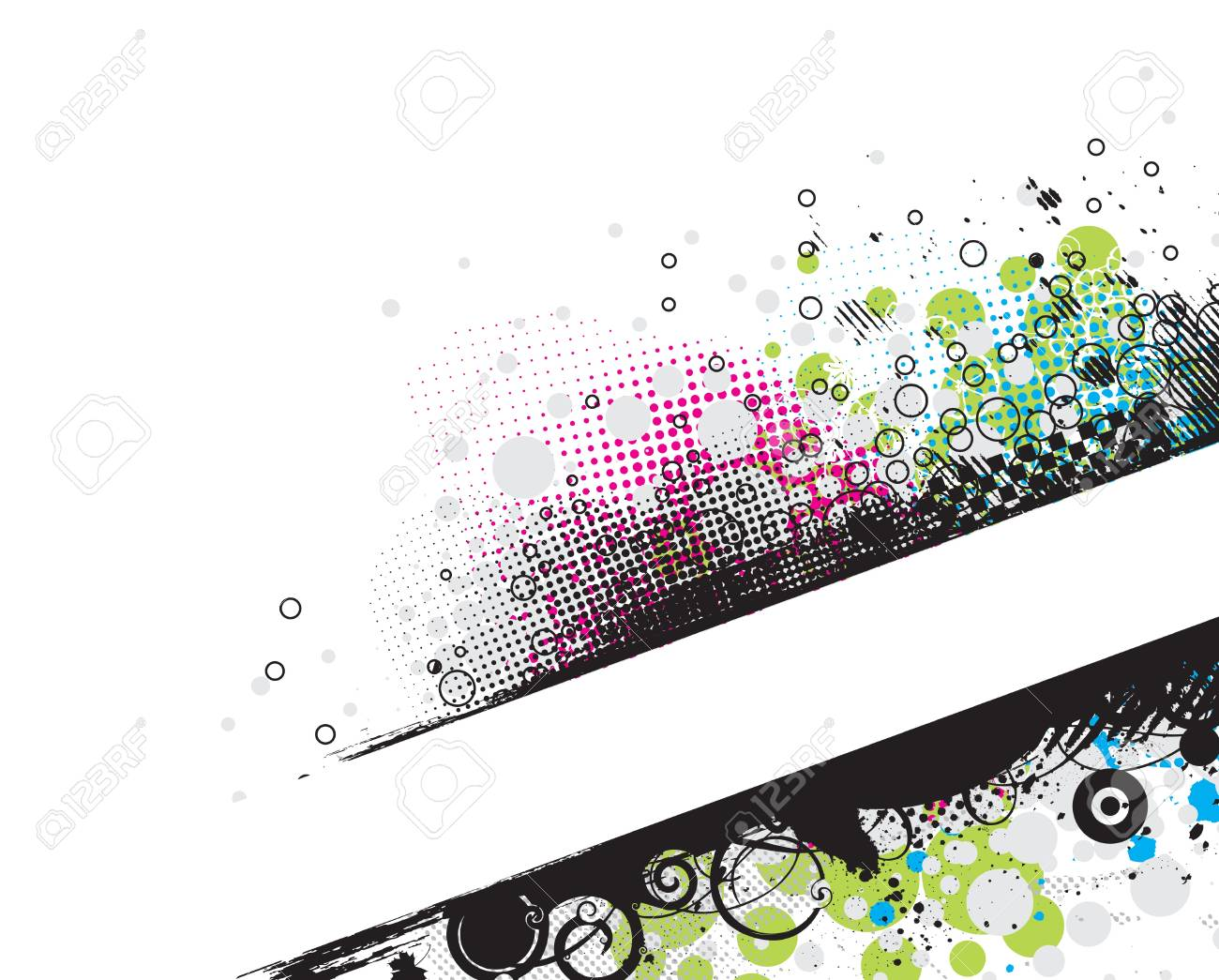 Grunge stylish banners with space of your text,  illustration. Stock Vector - 6978626