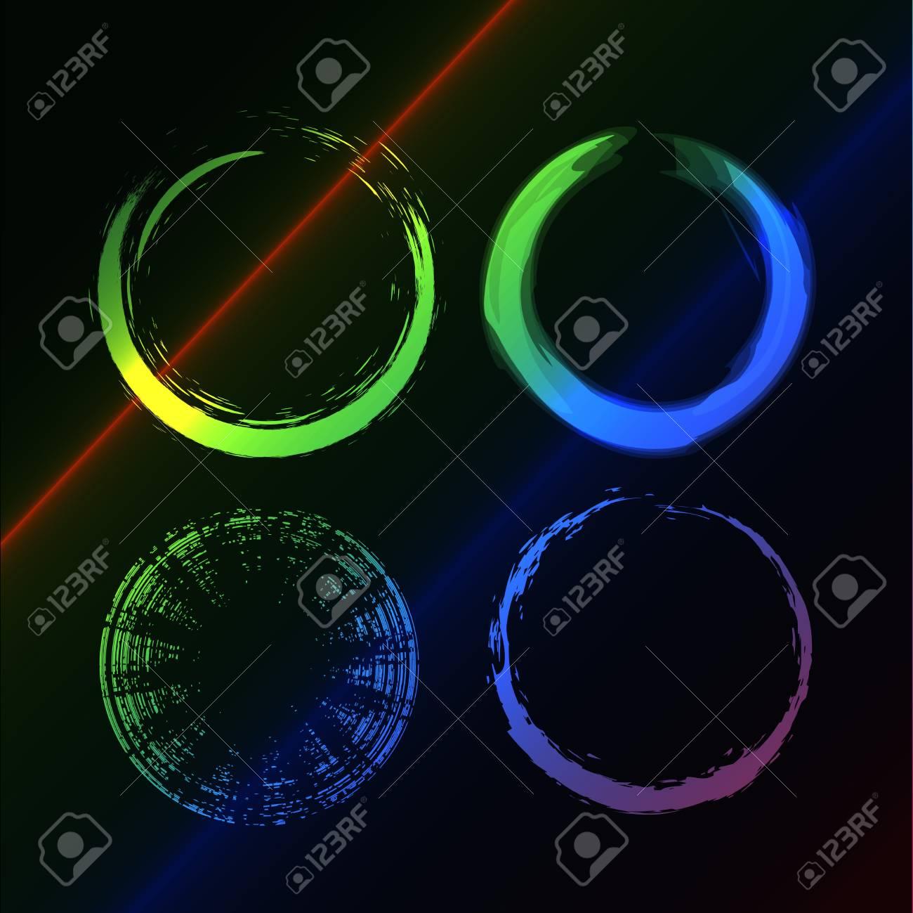 Grunge brushes line circle, illustration Stock Vector - 6978612